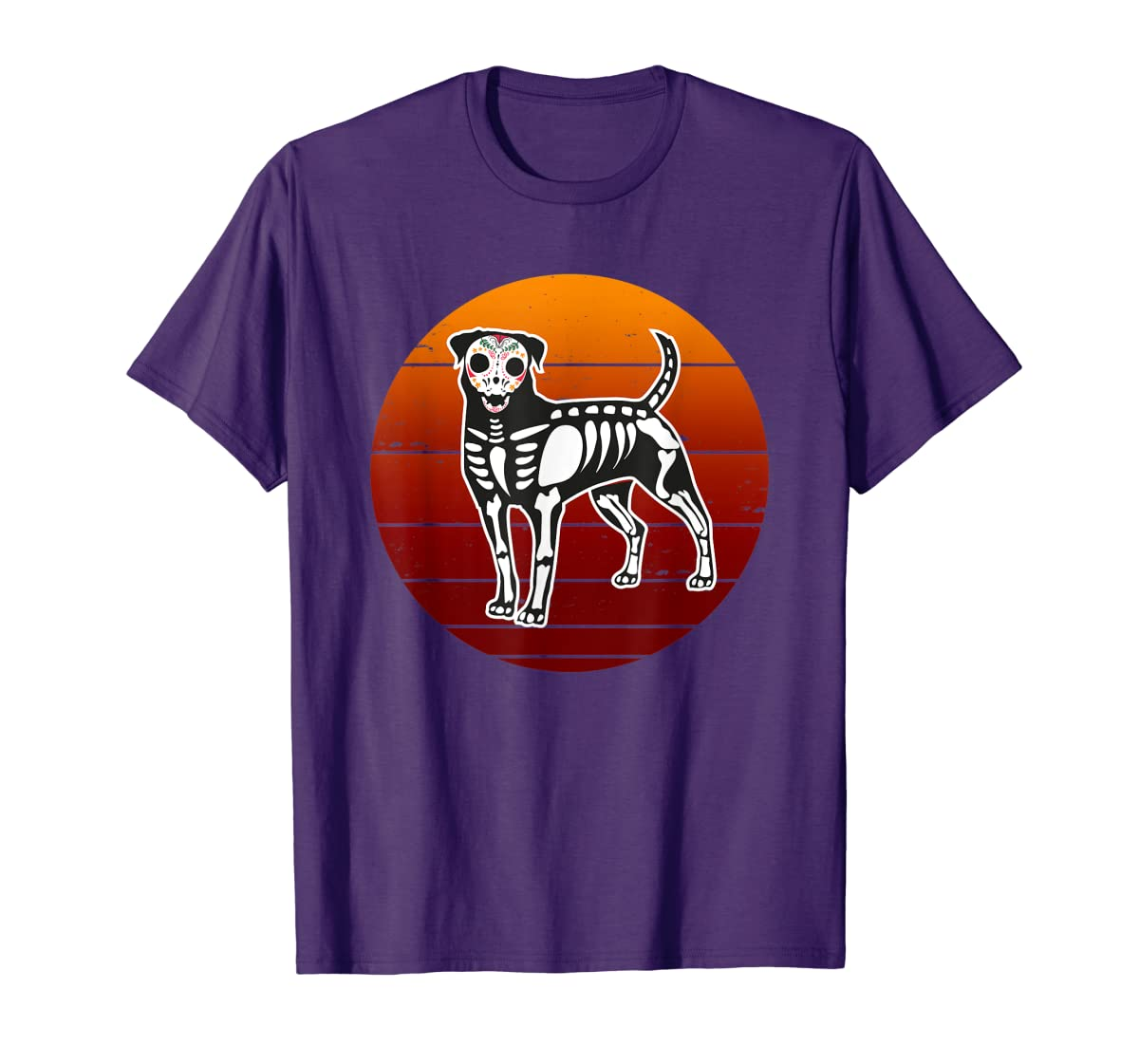 Rottweiler Skeleton Halloween T-Shirt-Men's T-Shirt-Purple