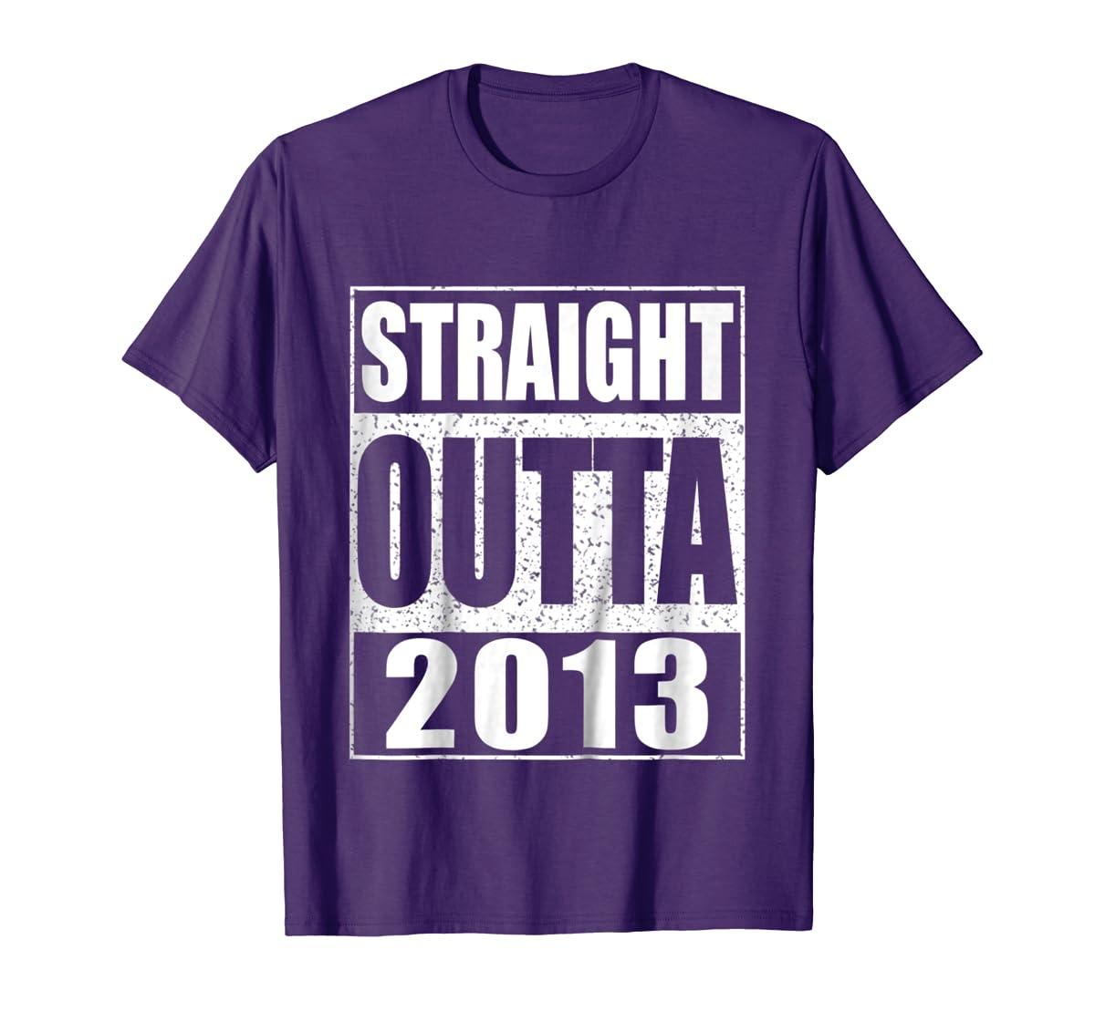 Kids Straight Outta 2013 T-Shirt 6th Birthday Gift Shirt-Men's T-Shirt-Purple