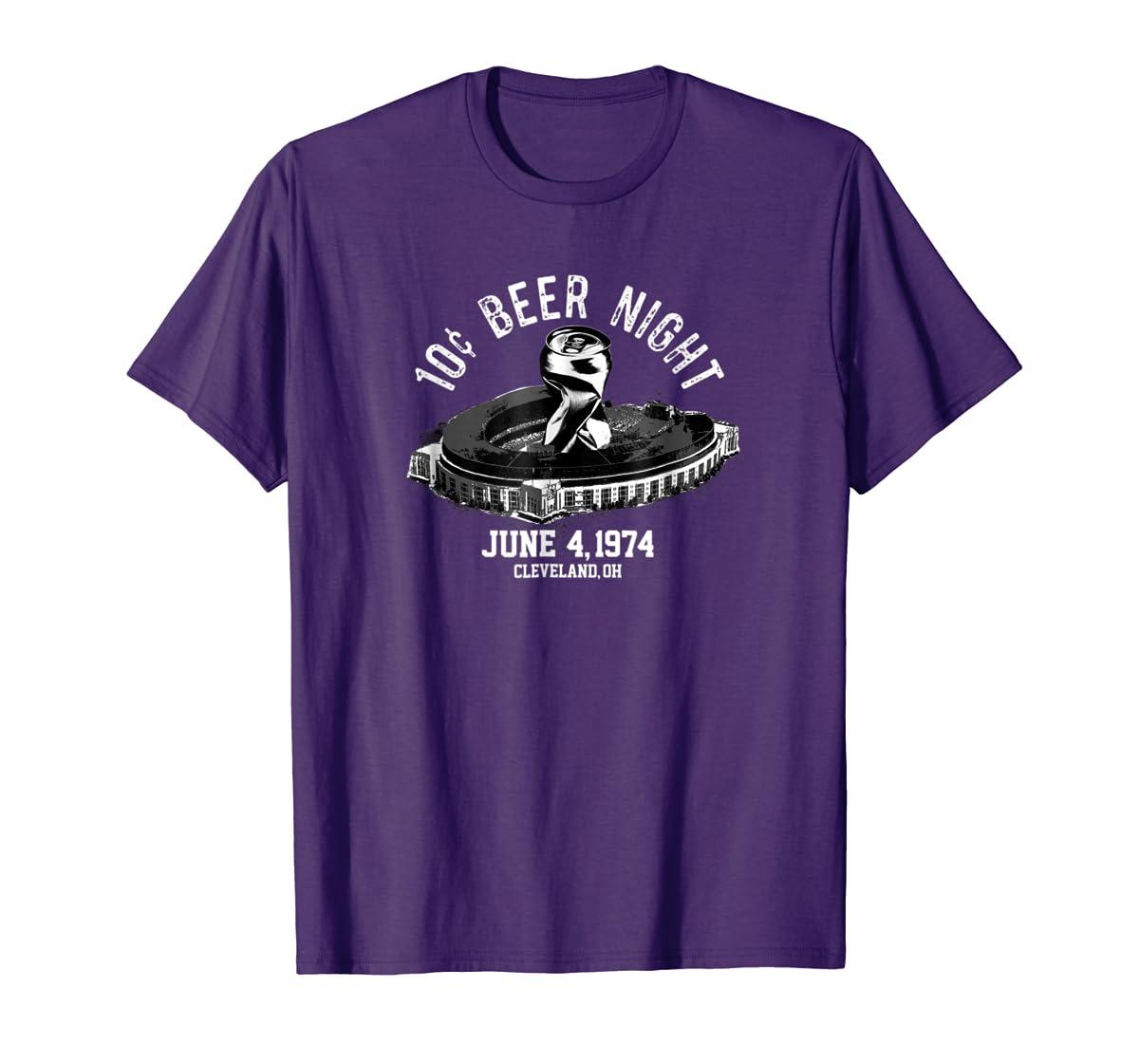Ten Cent Beer Night Cleveland CLE Baseball T-Shirt-Men's T-Shirt-Purple