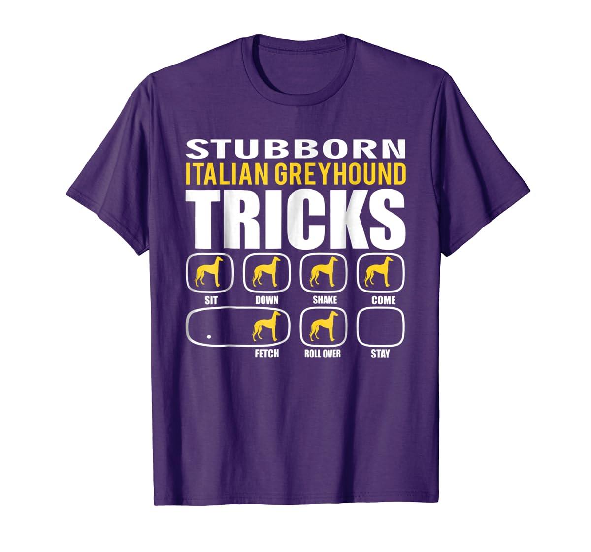 Funny Stubborn Italian Greyhound Tricks T-Shirt-Men's T-Shirt-Purple