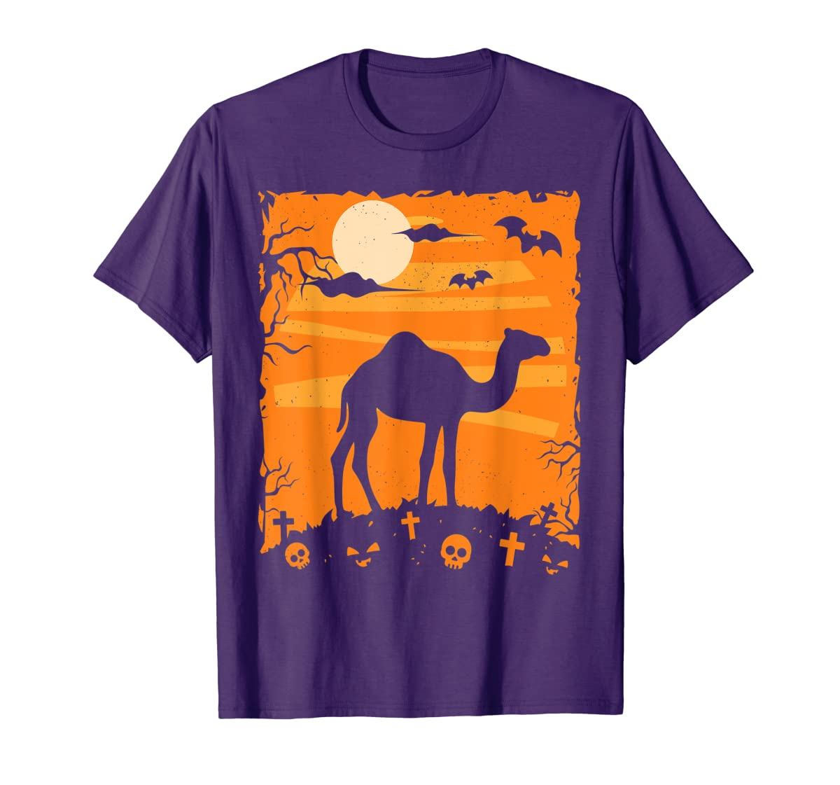 Camel Halloween Costume Animal Funny Pumpkin Outfit Gift T-Shirt-Men's T-Shirt-Purple