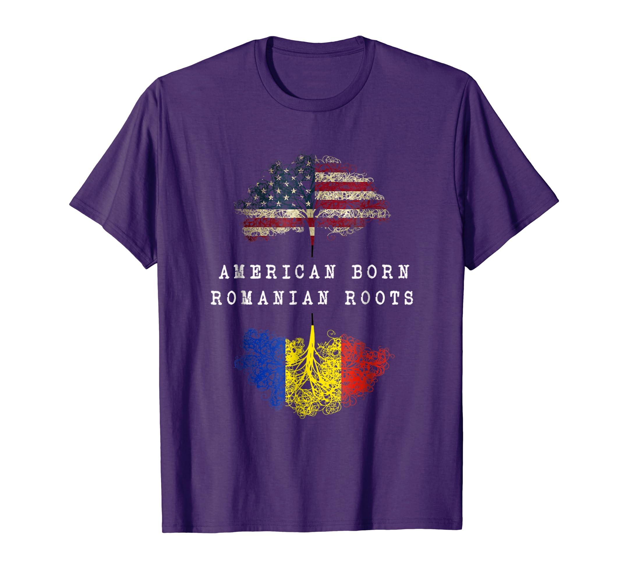 Amazon com: American born, Romanian roots ancestry T-shirt: Clothing
