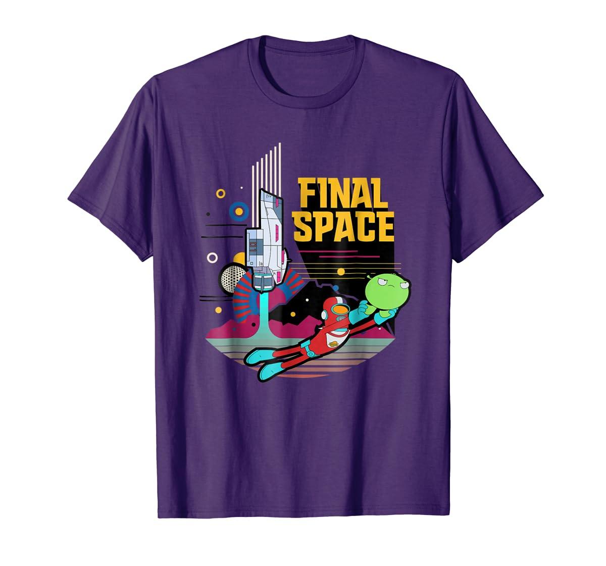 Final Space Retro Style T-shirt-Men's T-Shirt-Purple