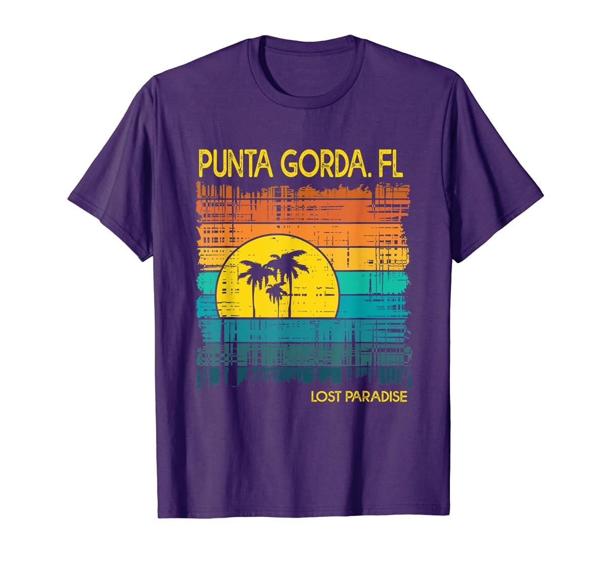 Punta Gorda Beach Florida Shirt Sunset-Men's T-Shirt-Purple