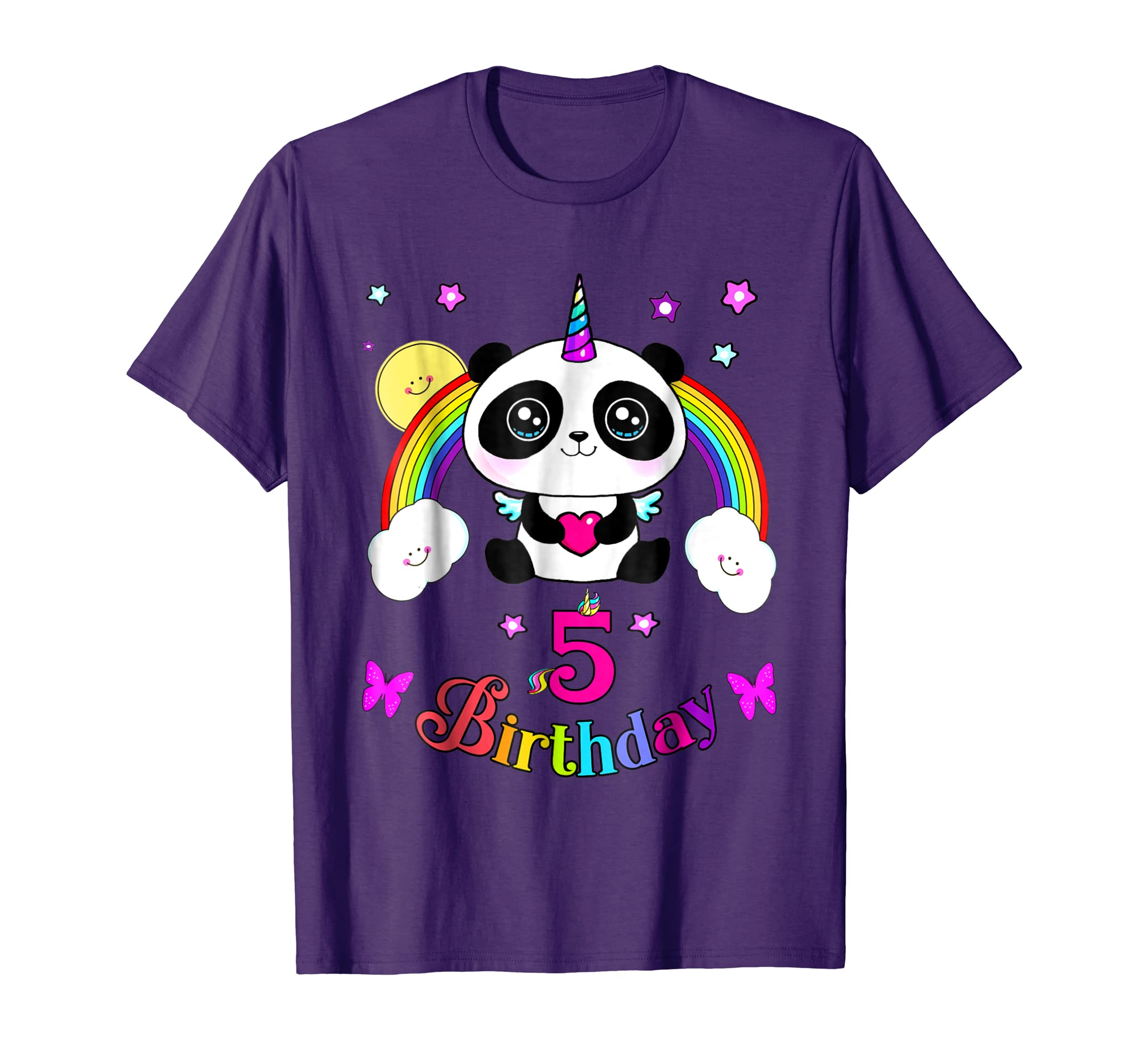 Amazon.com: 5th Birthday Cute Panda T-Shirt best 5 Years old ...