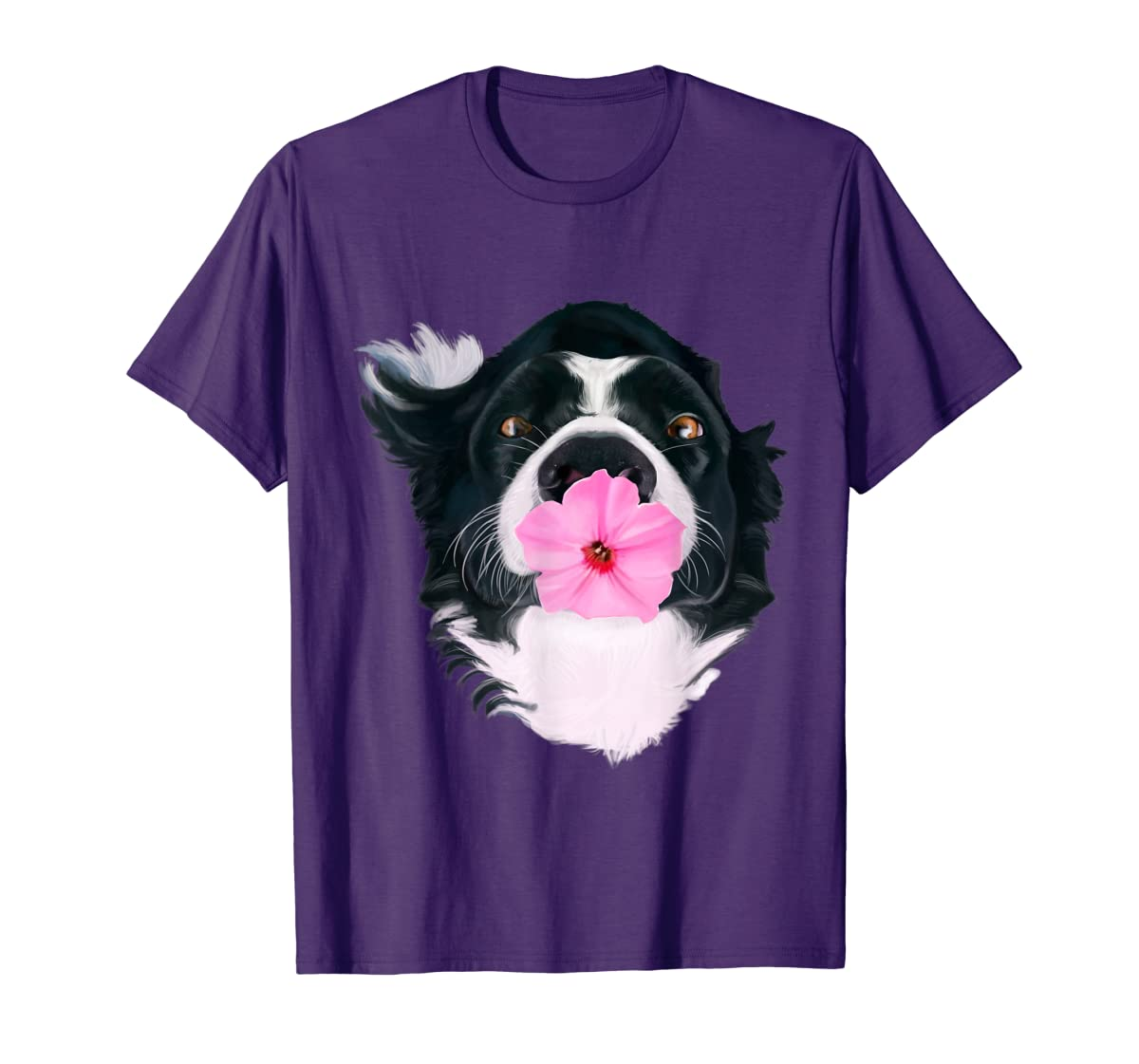Border Collie Sweet Dog T-Shirt Dogs Tee Shirt Gifts-Men's T-Shirt-Purple