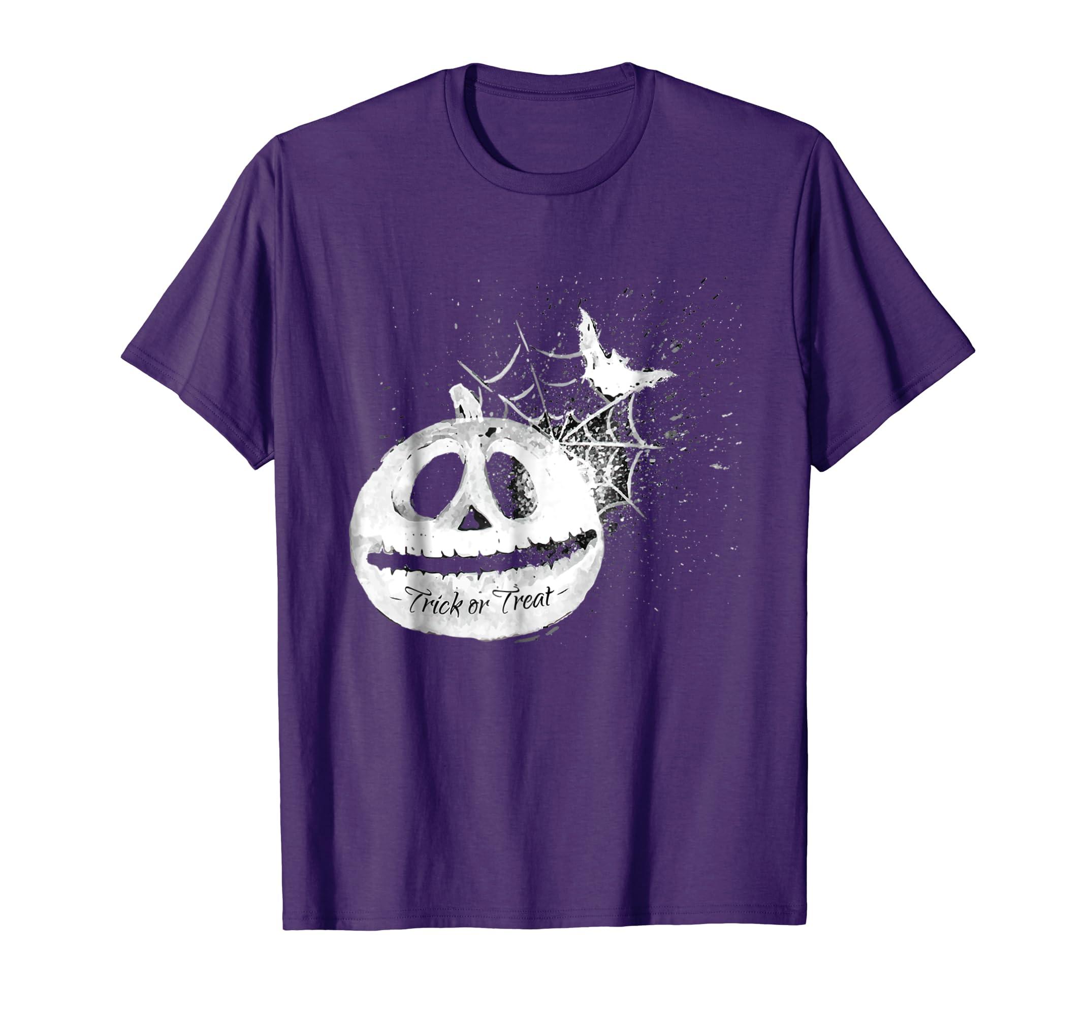 Bat Spiderweb Pumpkin Trick Treat Halloween Theme T Shirt-mt