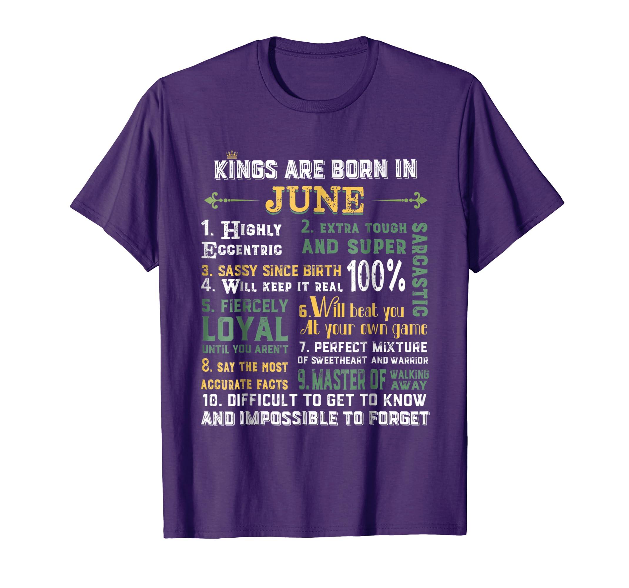 Retro Kings Are Born In June Sassy Since Birth Shirt-anz