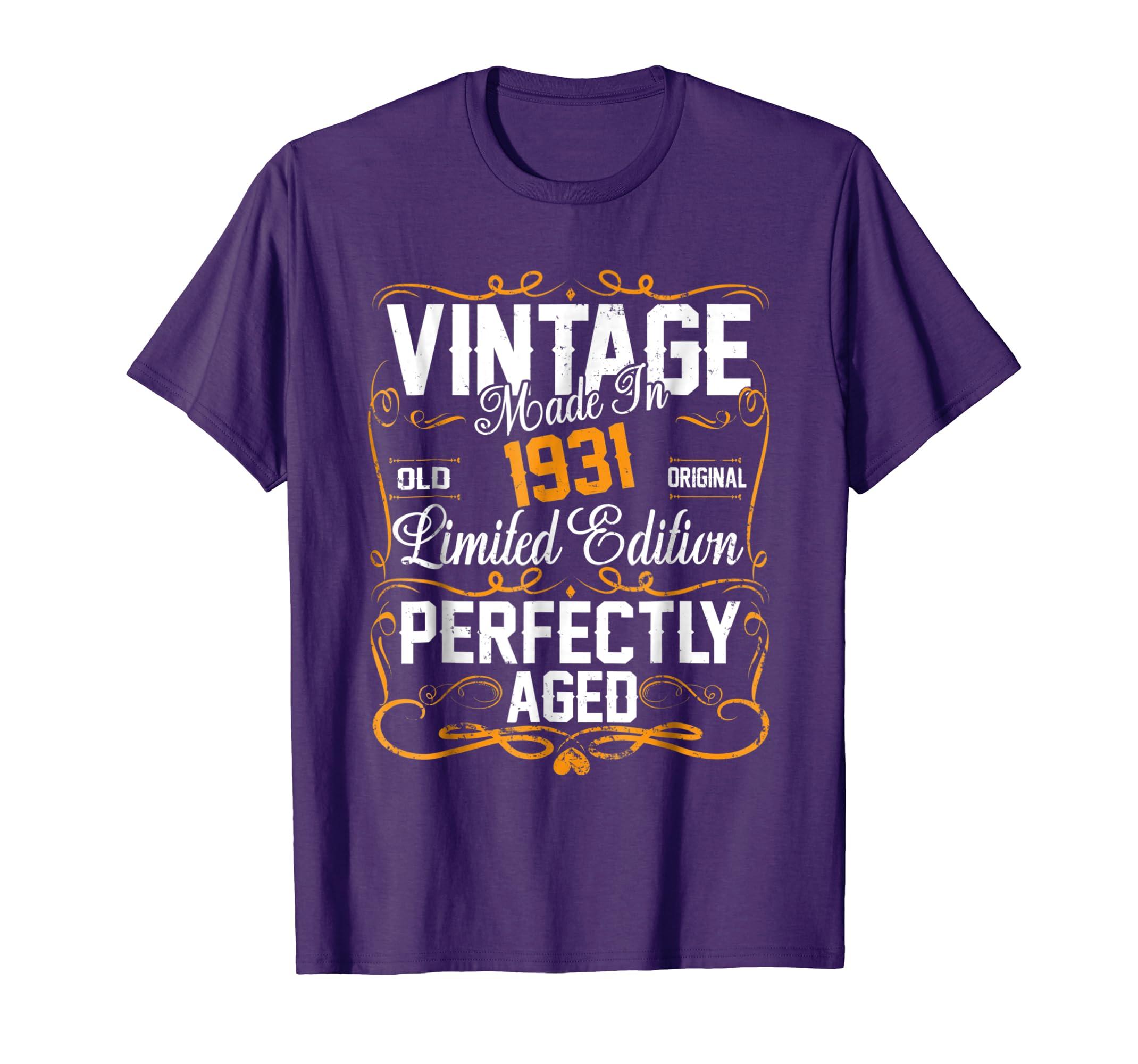 Amazon 87th Birthday Gift Shirt Vintage Dude 1931 87 Year Old Clothing