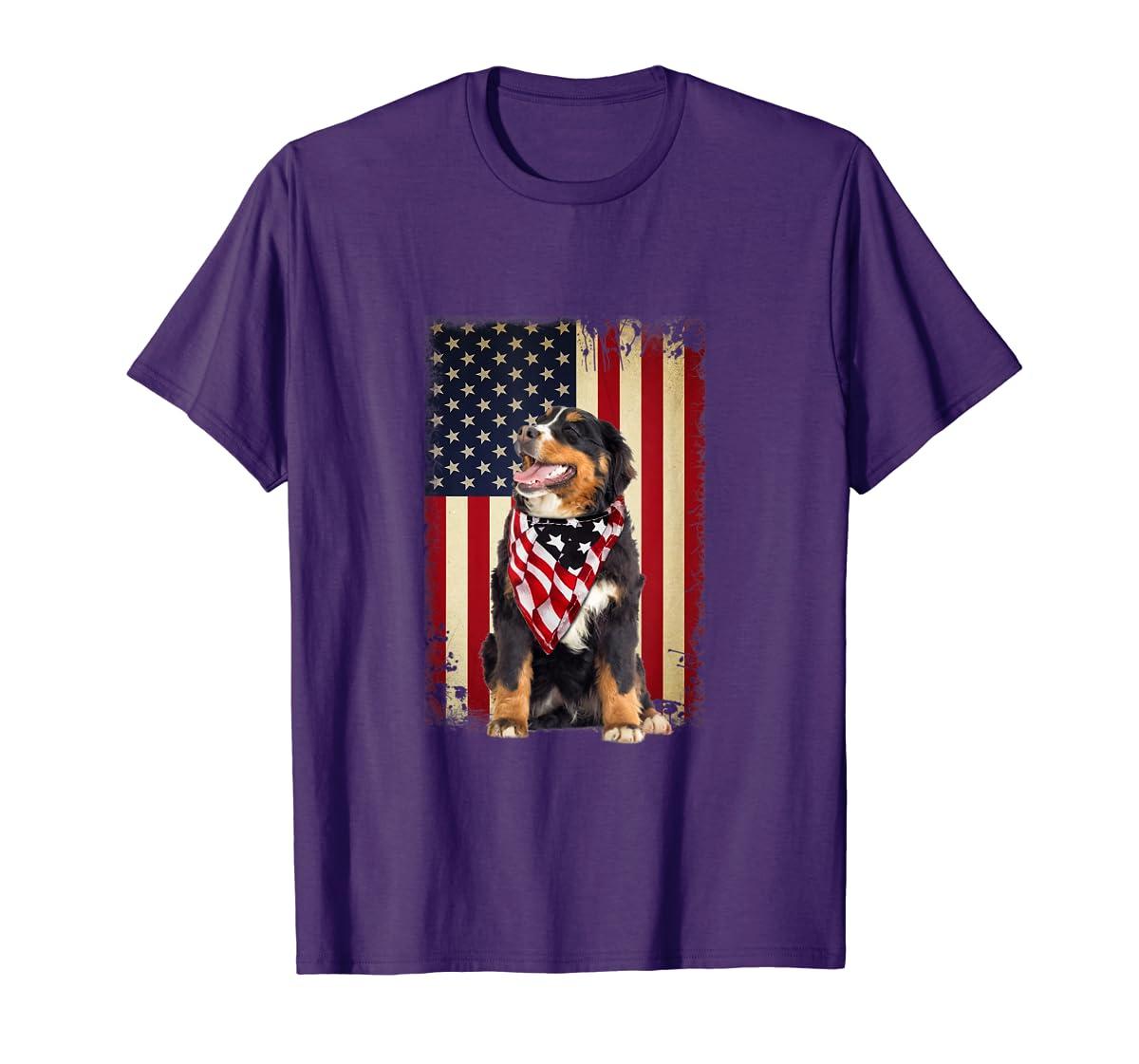 Bernese Mountain flag country-Men's T-Shirt-Purple