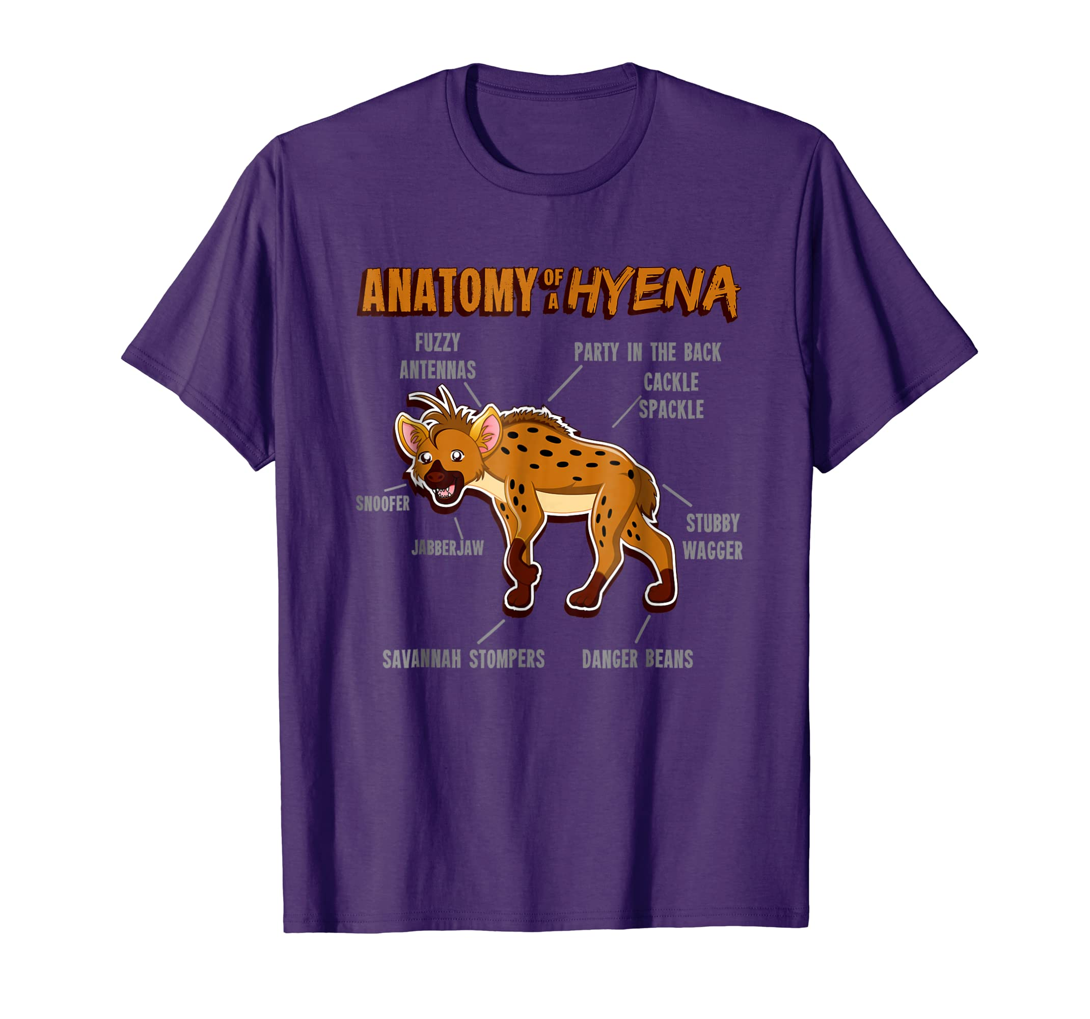 Amazon.com: Furry shirt - zoo animal shirt boys - Anatomy of a Hyena ...