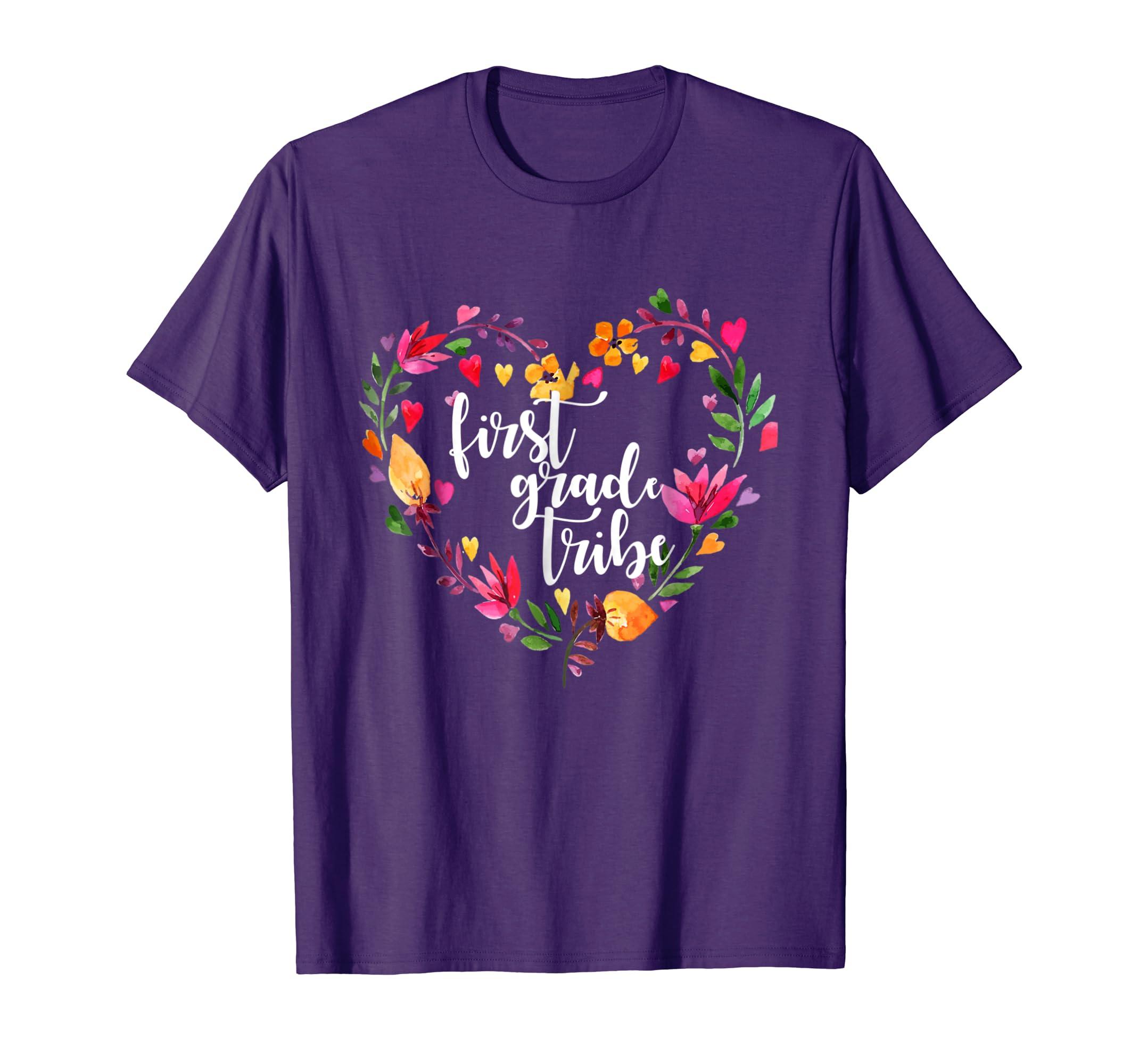 Tribe Back to school T shirt Flower wreath shirt-Awarplus