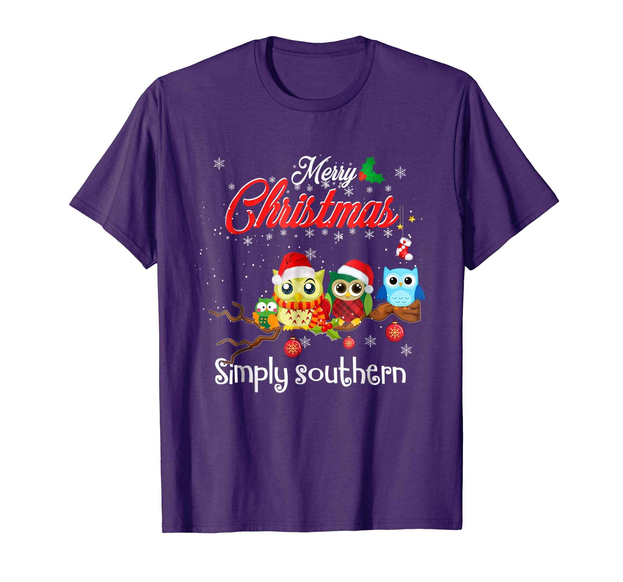 Merry Christmas Gift : Cute Simply southern Owl t shirt-azvn