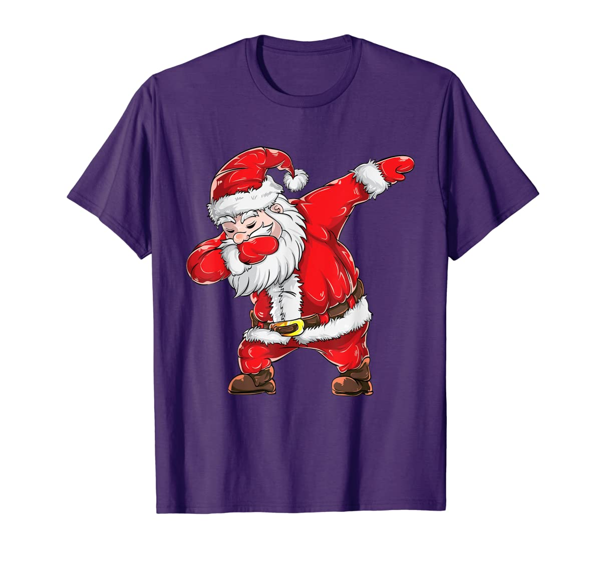Dabbing Santa Claus Christmas Kids Boys Girls Dab Xmas Dance T-Shirt-Men's T-Shirt-Purple