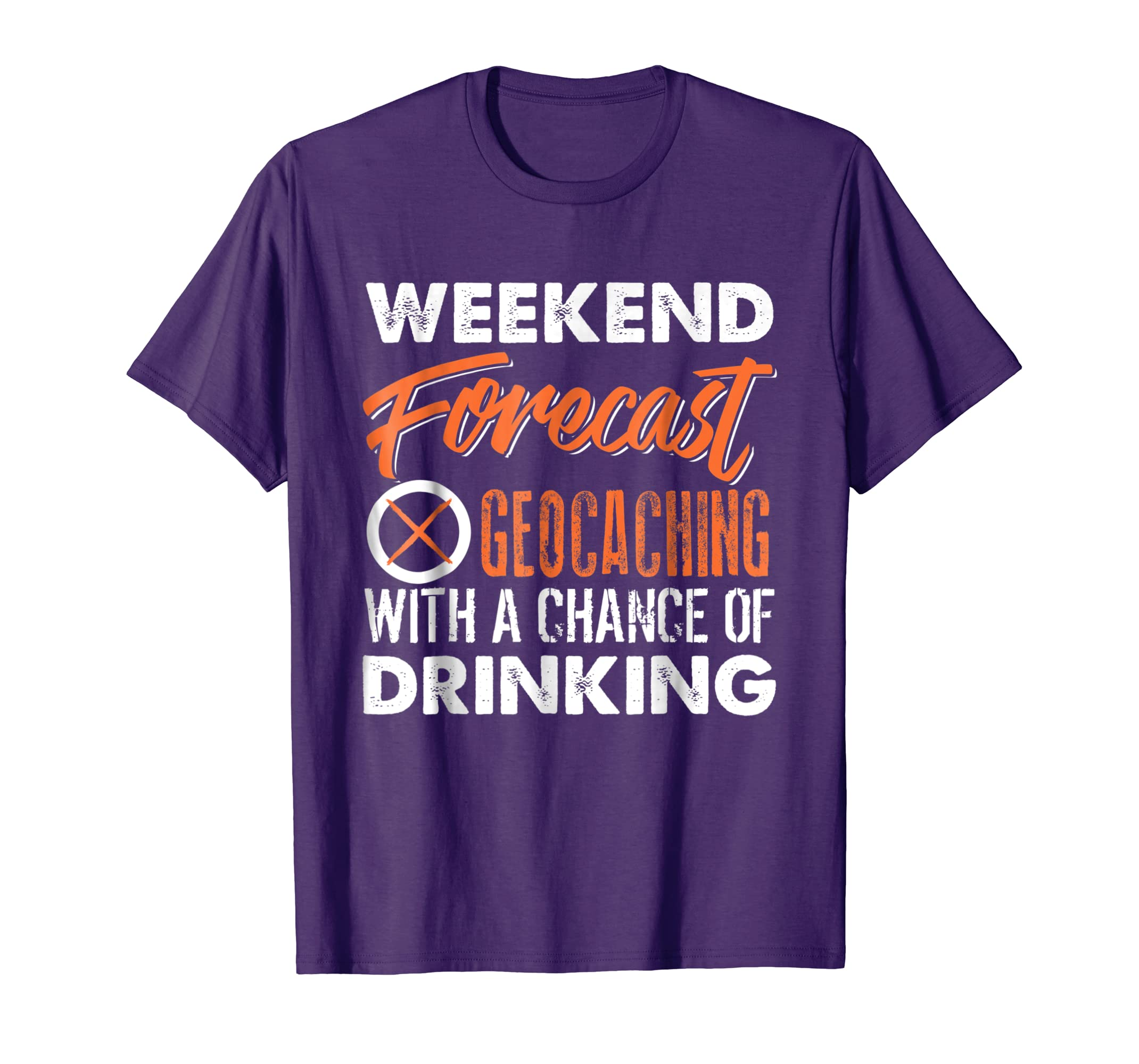 Weekend Forecast Geocaching Shirt-ln