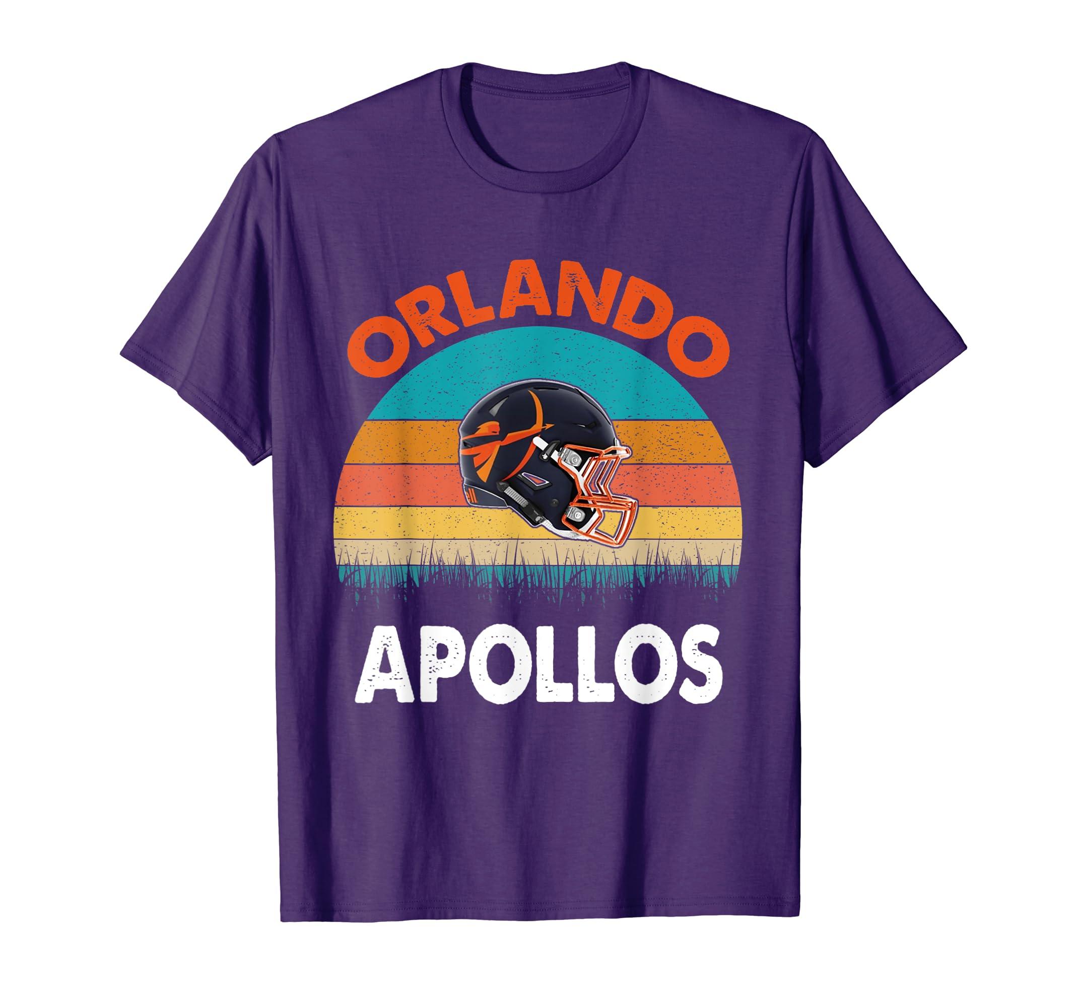 Vintage Orlando Football Apollos T-Shirt For Fans club-Teehay