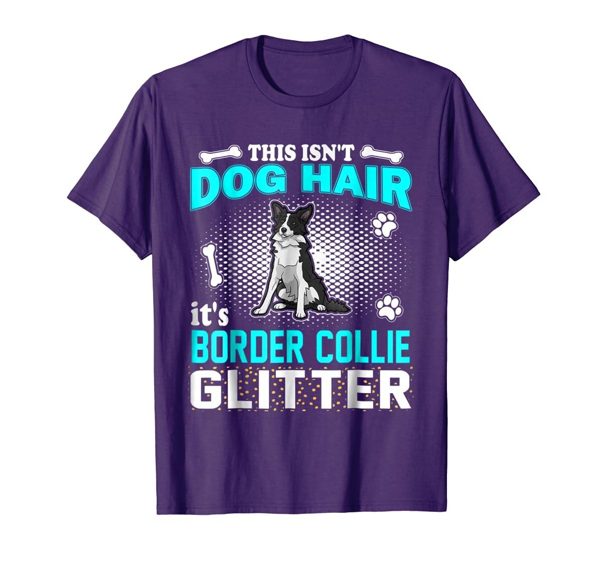 This Isn't Dog Hair It's Border Collie Glitter T-Shirt-Men's T-Shirt-Purple