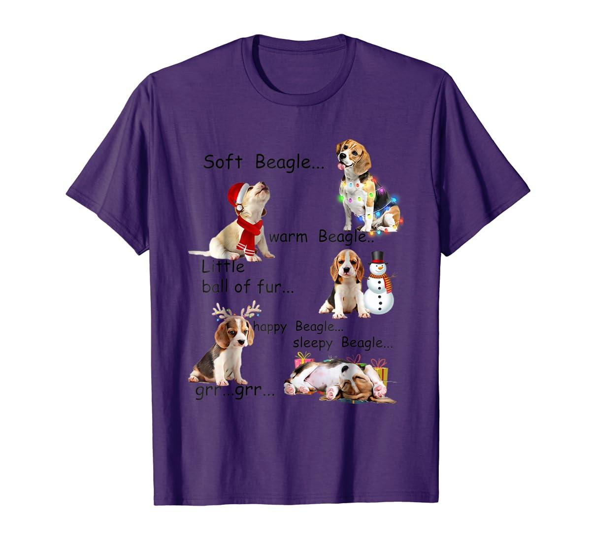Beagle 5 Shades - Nice Dog Christmas Tshirt-Men's T-Shirt-Purple