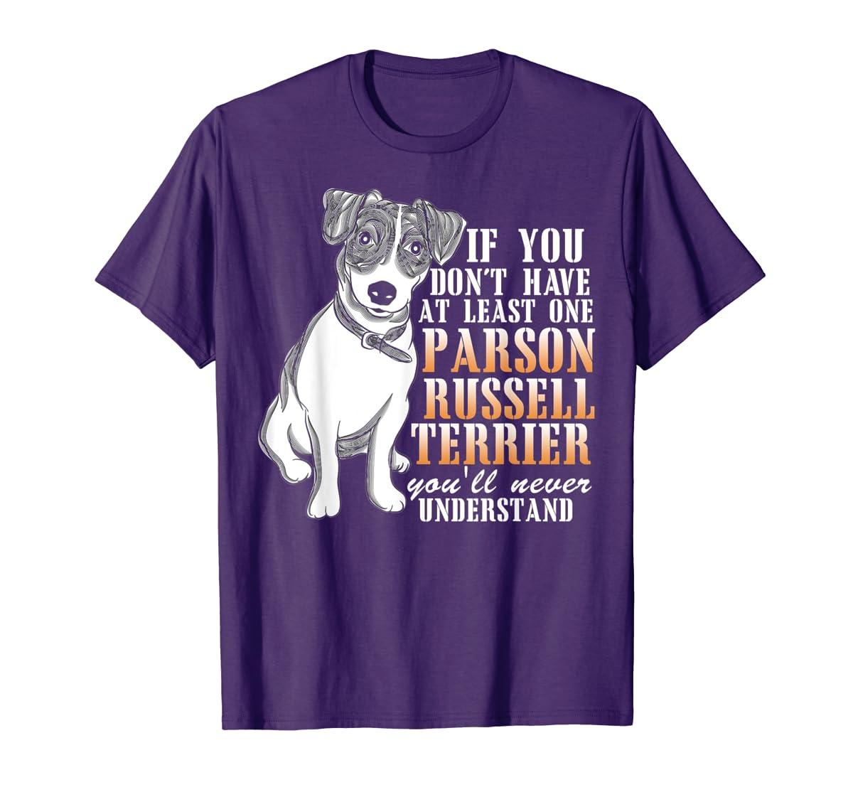 Parson Russell Terrier T Shirt, I Love My Dog T Shirt-Men's T-Shirt-Purple