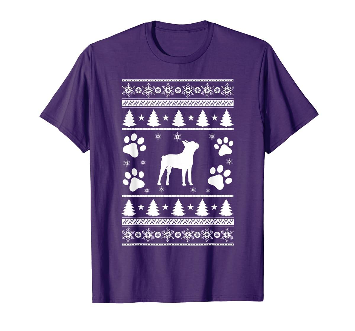 Boston Terrier lovers ugly christmas gift T-Shirt-Men's T-Shirt-Purple