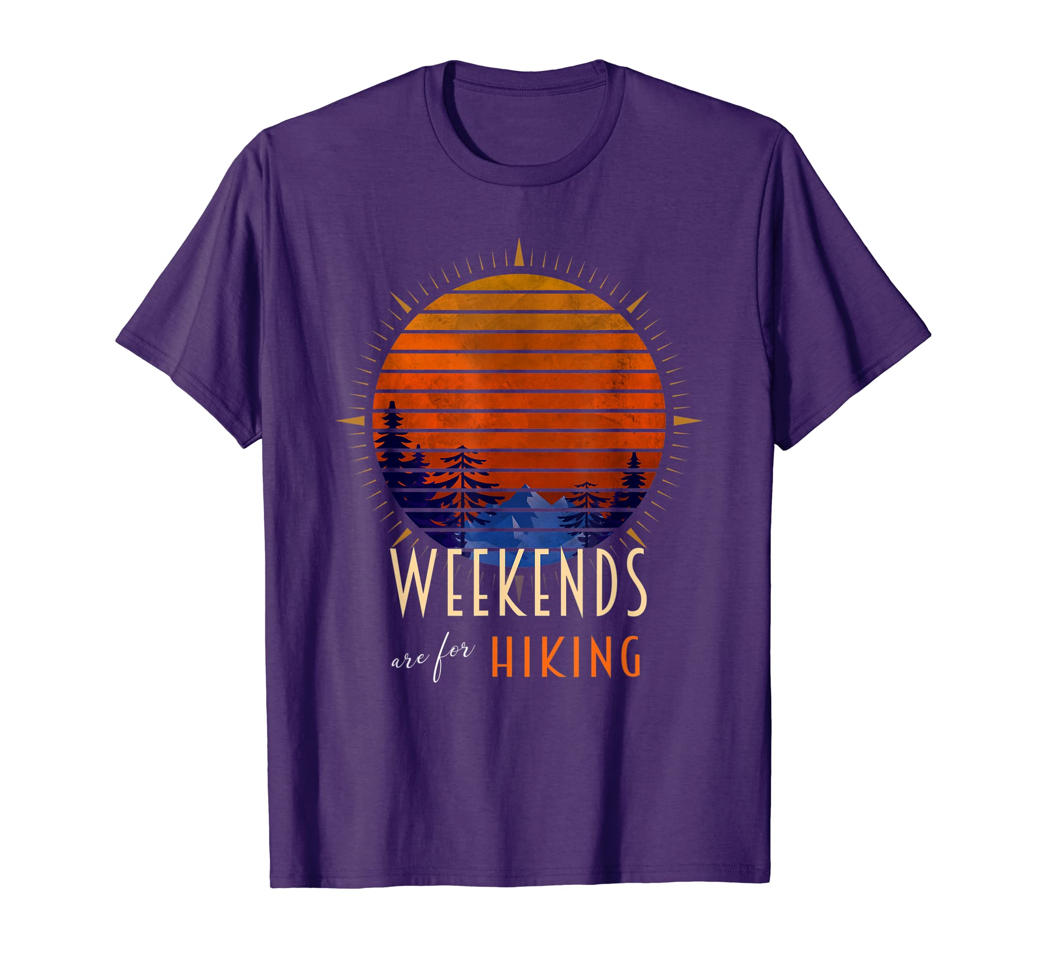 6eeb0f3e Amazon.com: Weekends are for Hiking - Landscape & Compass Graphic T-Shirt:  Clothing