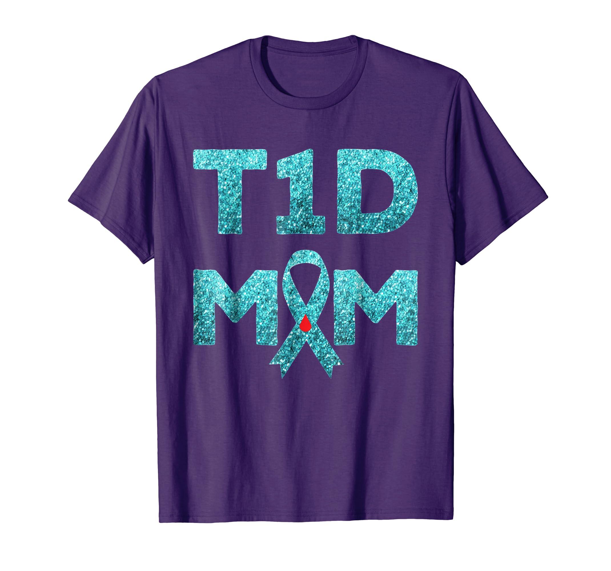 T1D Mom Diabetes Awareness Shirt Mother Gift-azvn