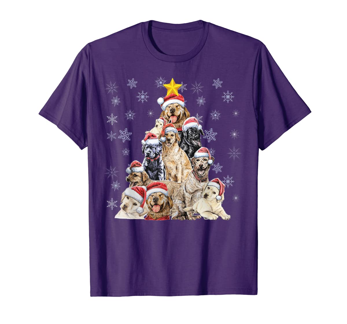 Labrador Retriever Dog Christmas Funny T-Shirt-Men's T-Shirt-Purple