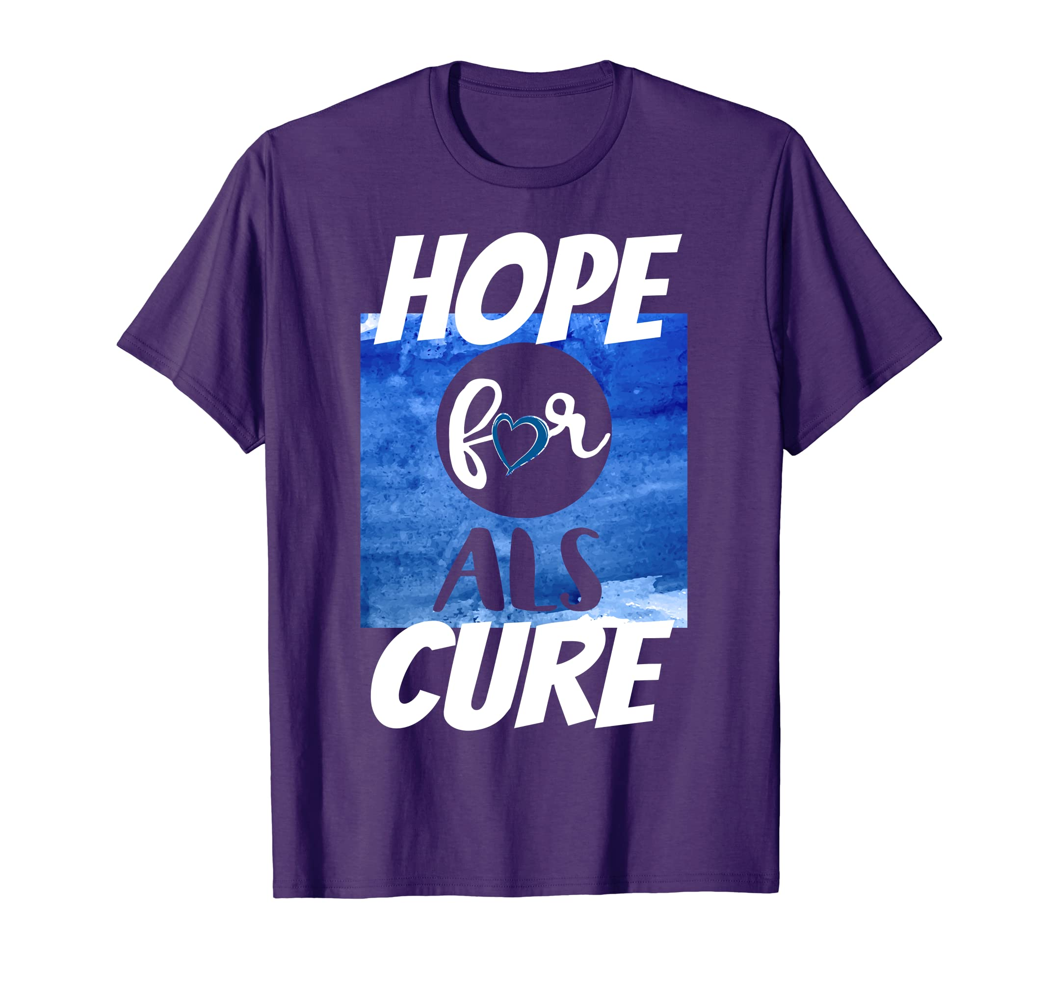 Amazon com: Hope for ALS Cure Awareness Month Shirt ALS Awareness