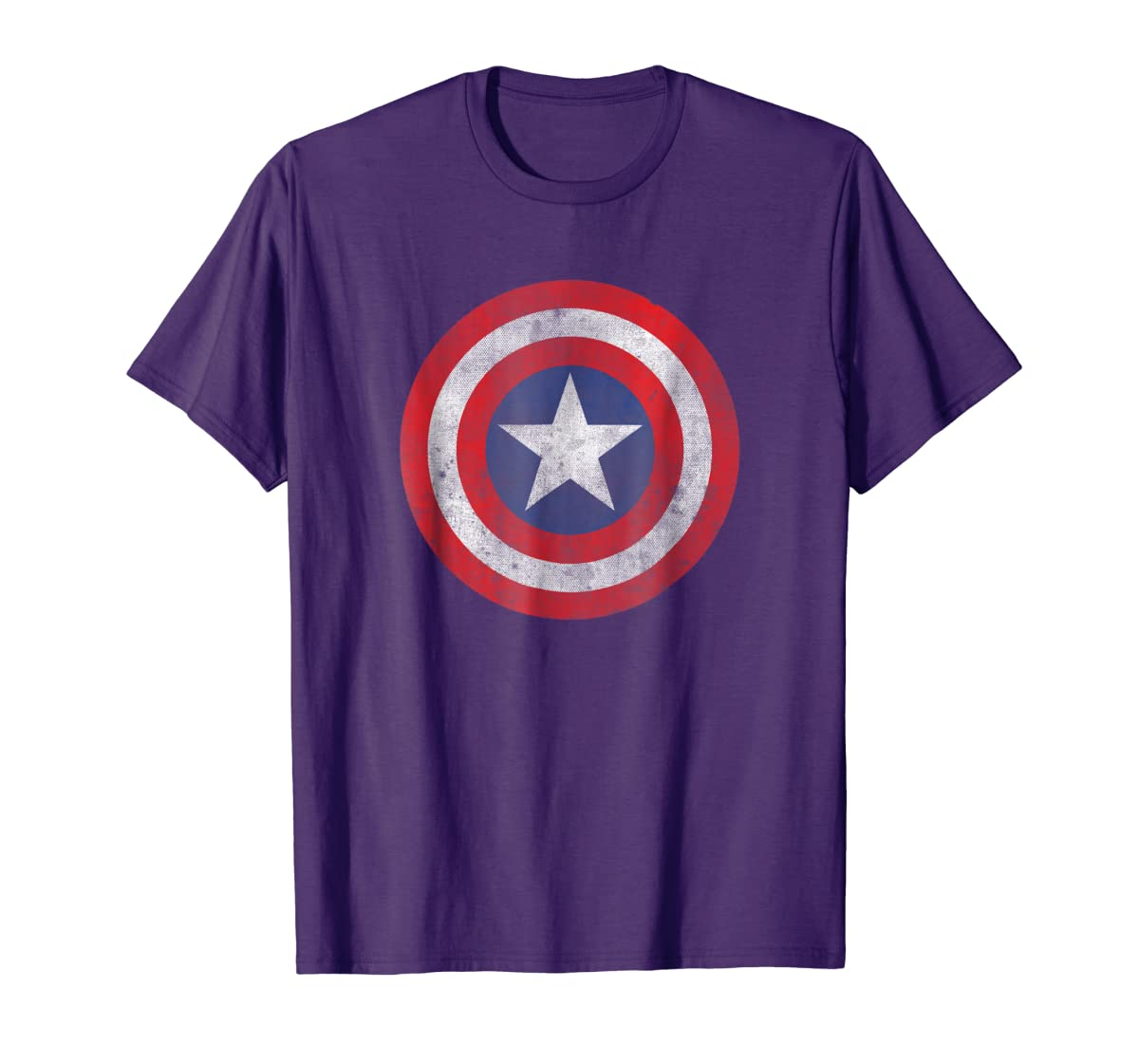 Marvel Captain America Classic Shield Graphic T-Shirt-Men's T-Shirt-Purple