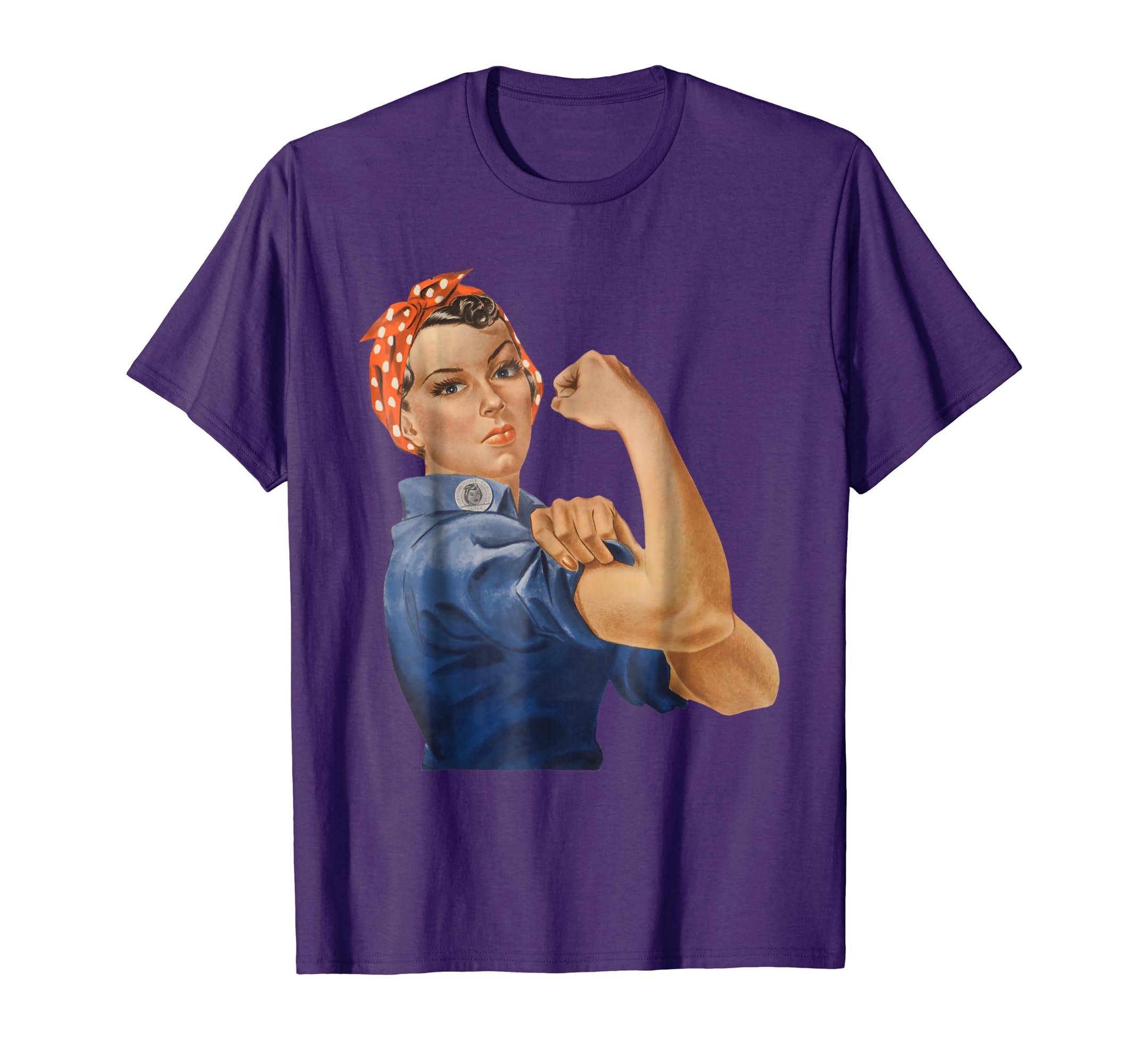 We Can Do It Feminist Retro T Shirt-azvn