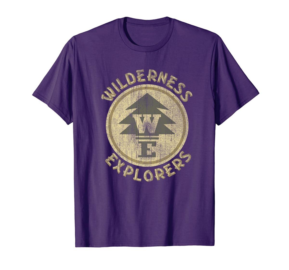 Disney Pixar Up Wilderness Explorer Badge Premium T-Shirt-Men's T-Shirt-Purple