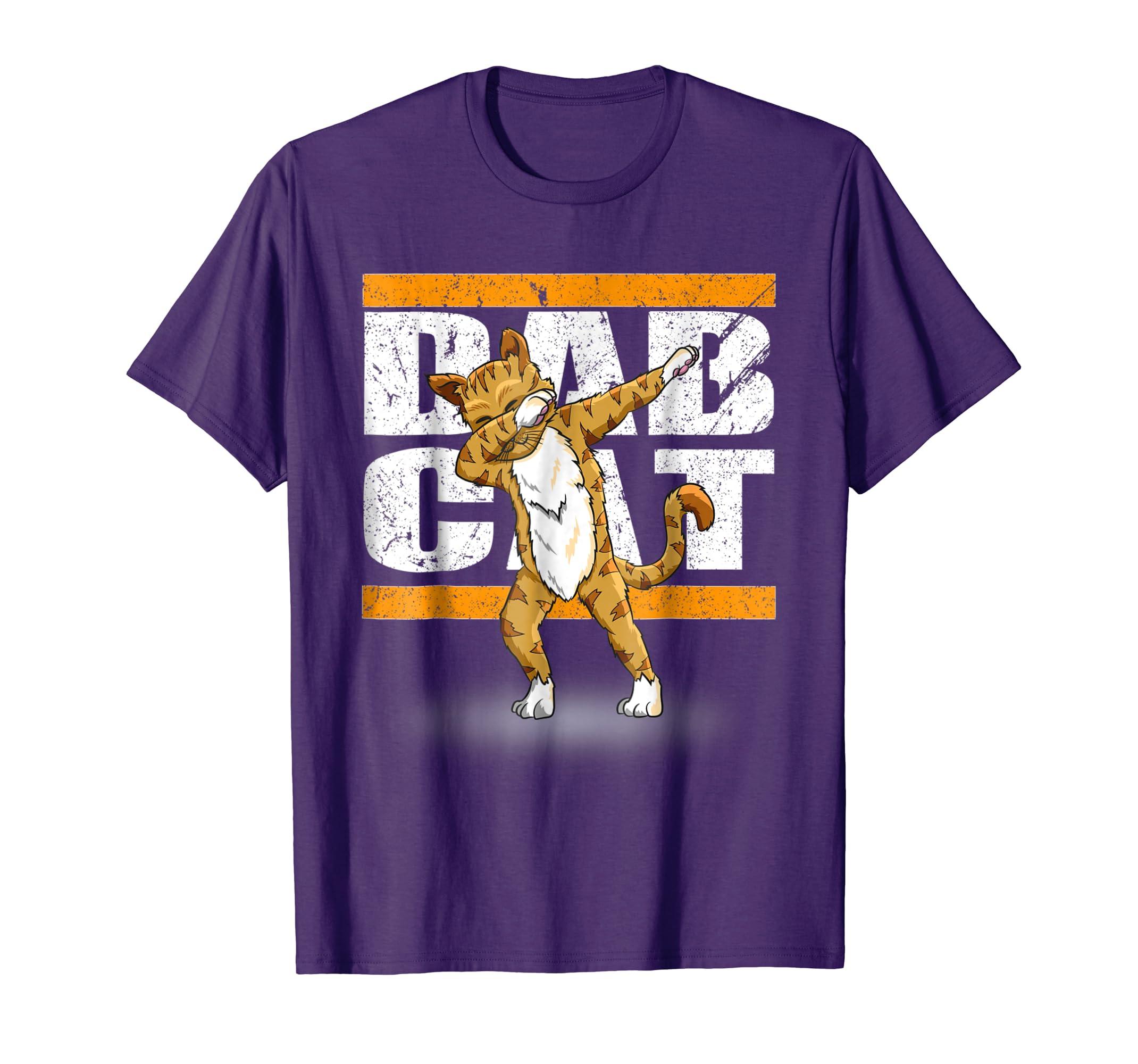 DAB Cat Tshirt   Funny Dabbing Cat Dab Dance Shirt Gift-Teesml