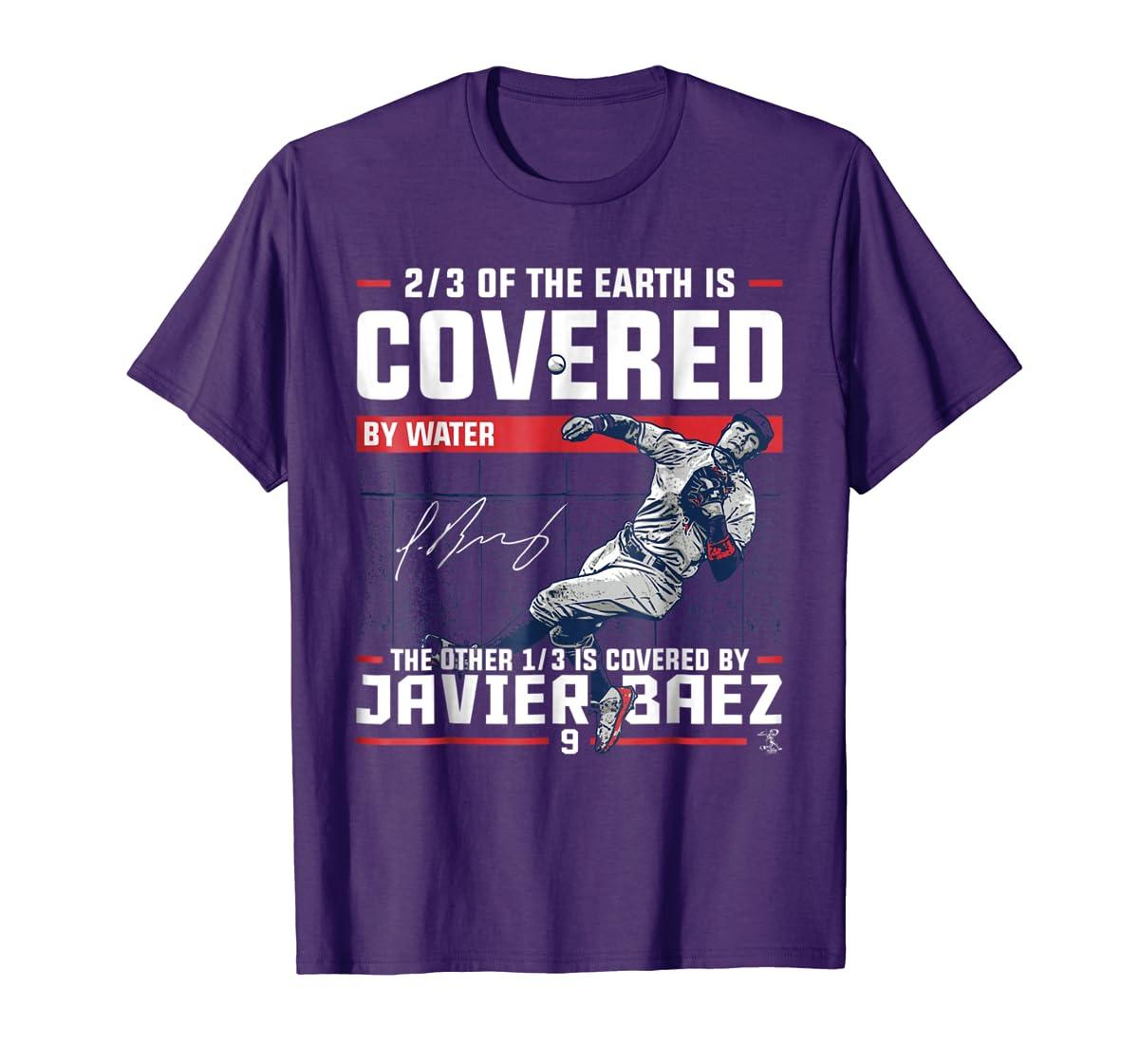 Javier Baez Covered By T-Shirt - Apparel-Men's T-Shirt-Purple