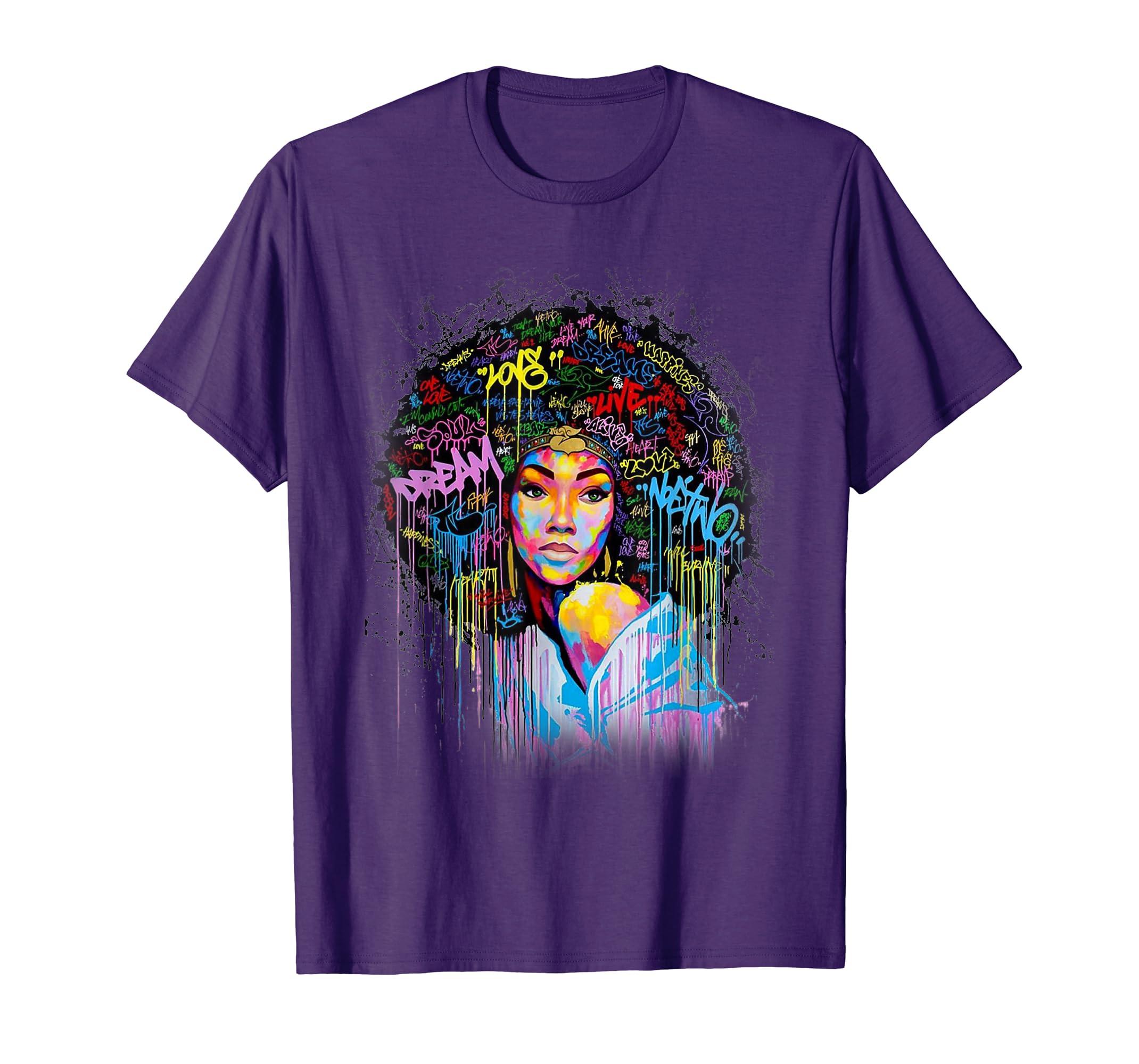 Dashiki Melanin Afro Woman For Afro Woman T Shirt-SFL