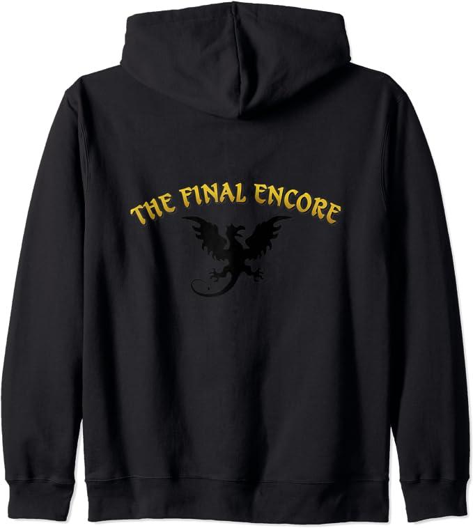 Amazon.com: The Final Encore with Dragon Silhouette Zip ...