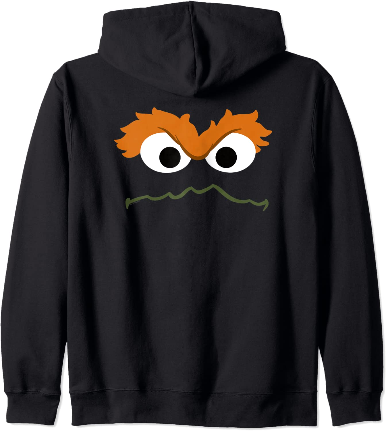 Sesame Street Lowest price challenge Oscar the Face Zip Grouch Hoodie Max 44% OFF