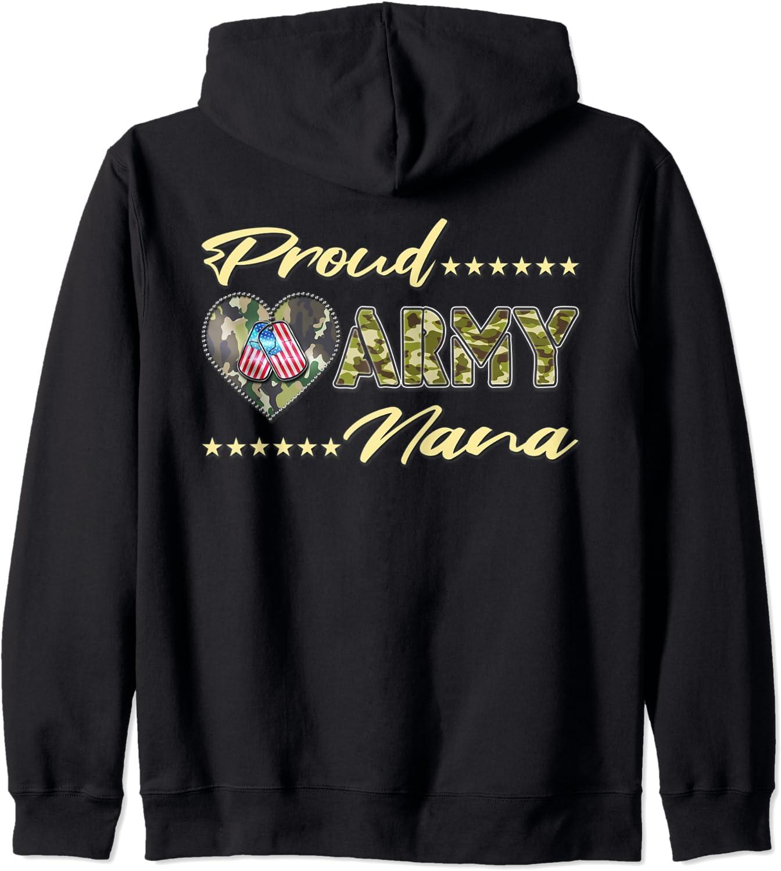 Proud Army Nana US Flag Dog Heart Military Tag Finally popular brand Zip Free shipping on posting reviews Gift Grandma