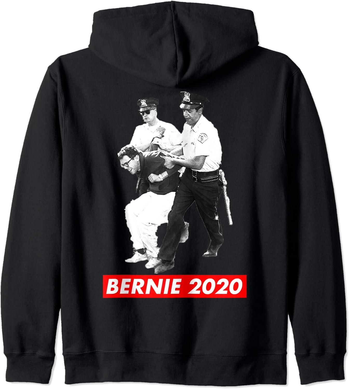 Bernie Sanders Civil 卓抜 通常便なら送料無料 Rights Arrest Protest Zip Hoodie