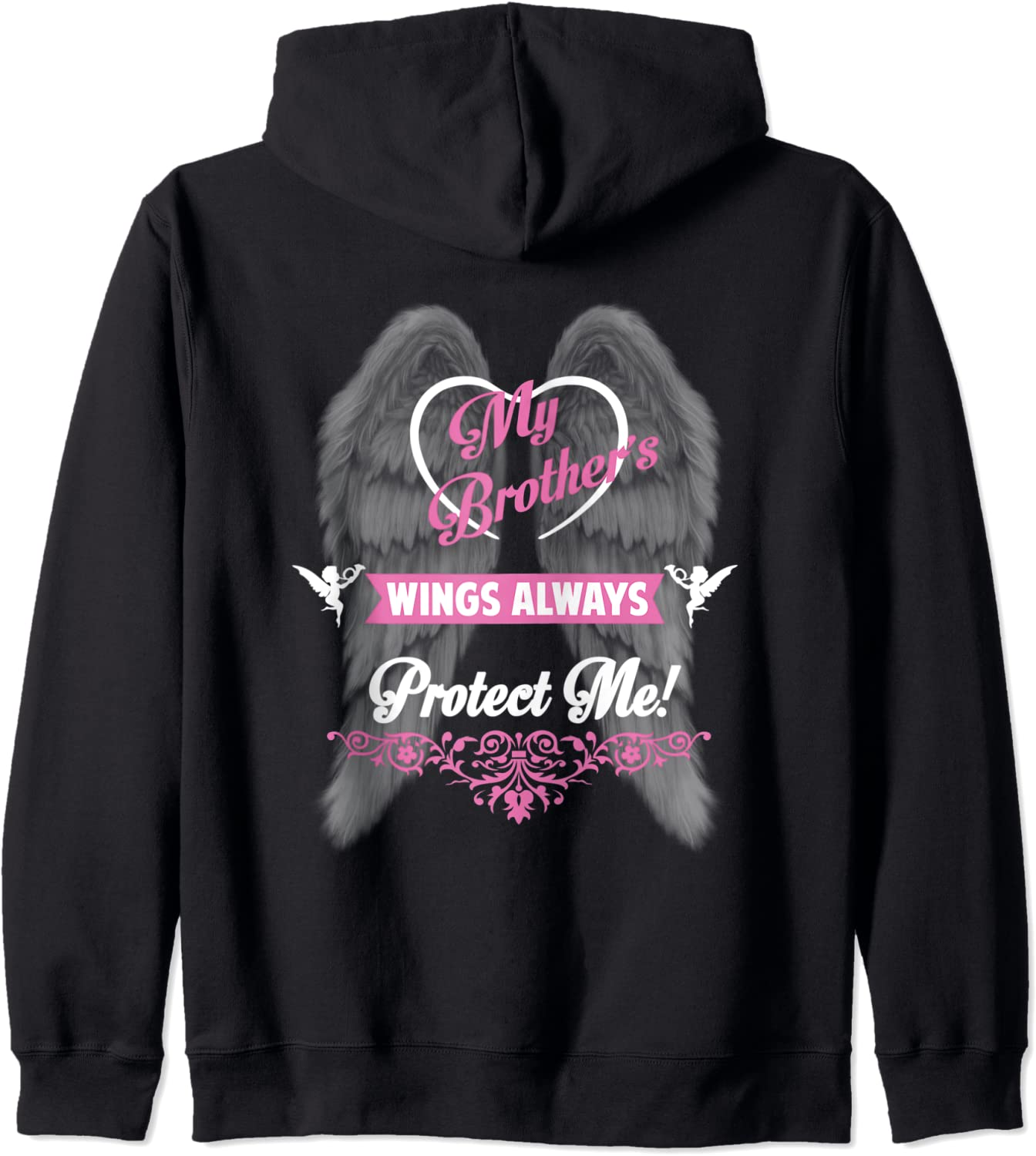 My Brother's Wings Always Protect 高級な me Zip Angel my Brother Ho 予約販売