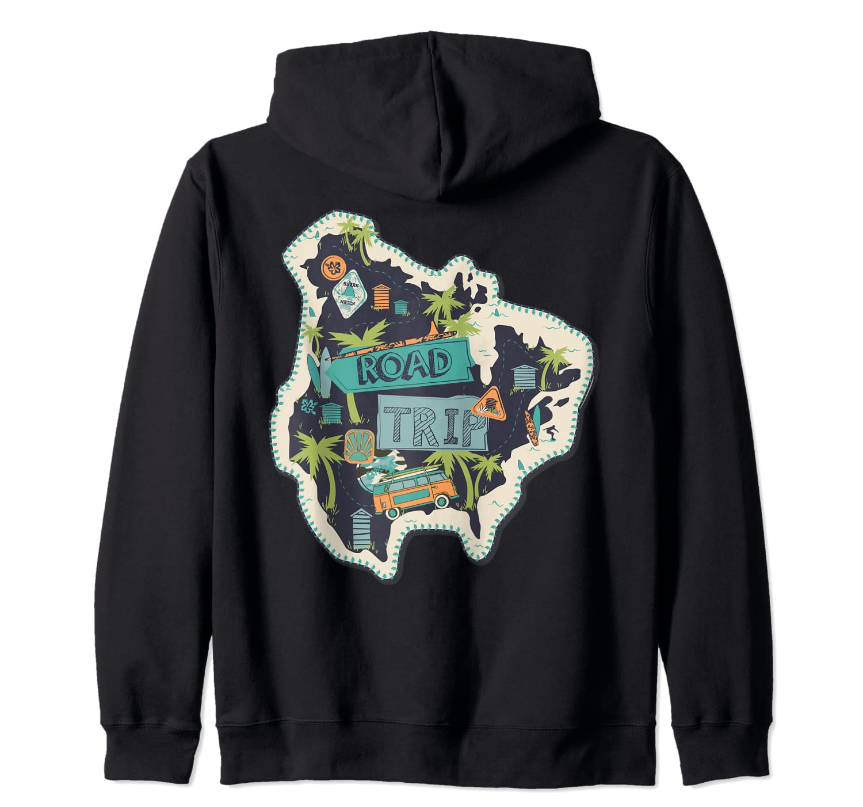 Road Trip 2019 Family Summer Vacation Hippie Van Surf Gift Zip Shirts