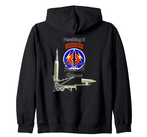 56th Fa Pershing Ii We Gave Peace A Chance On Back Design Zip Hoodie