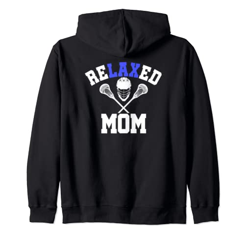 Lacrosse MOM Shirt | Relaxe LAX Sports | Mother's Day Gift Zip Hoodie