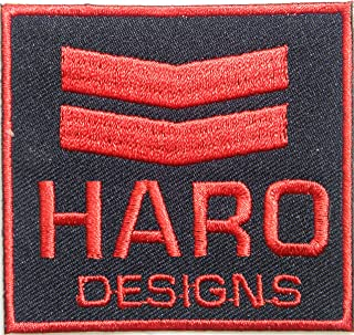 HARO Old School BMX Logo Sign Racing Patch Iron on Applique Embroidered T shirt Jacket BY SURAPAN (red)