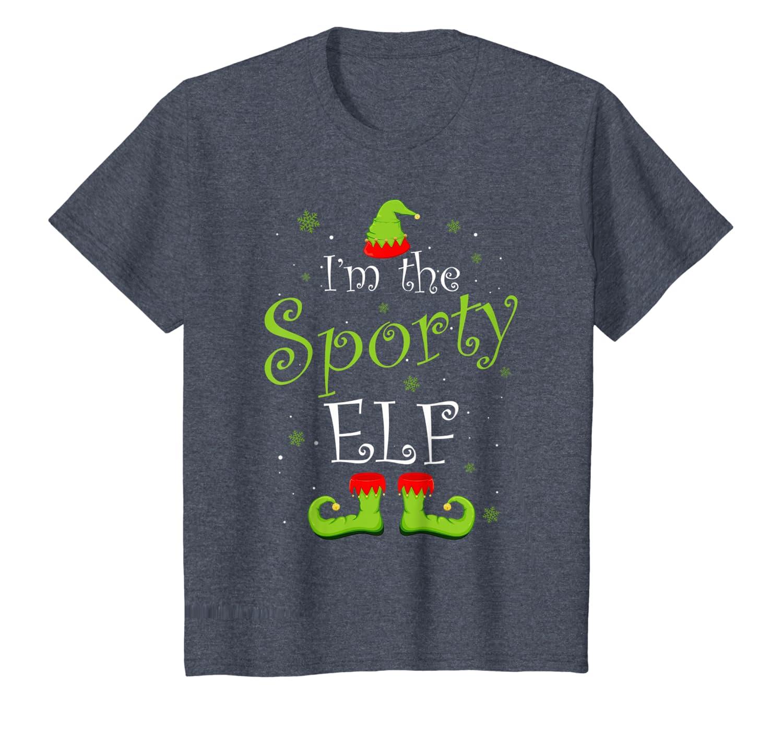 I'm The Sporty Elf Matching Family Group Christmas Xmas T-Shirt