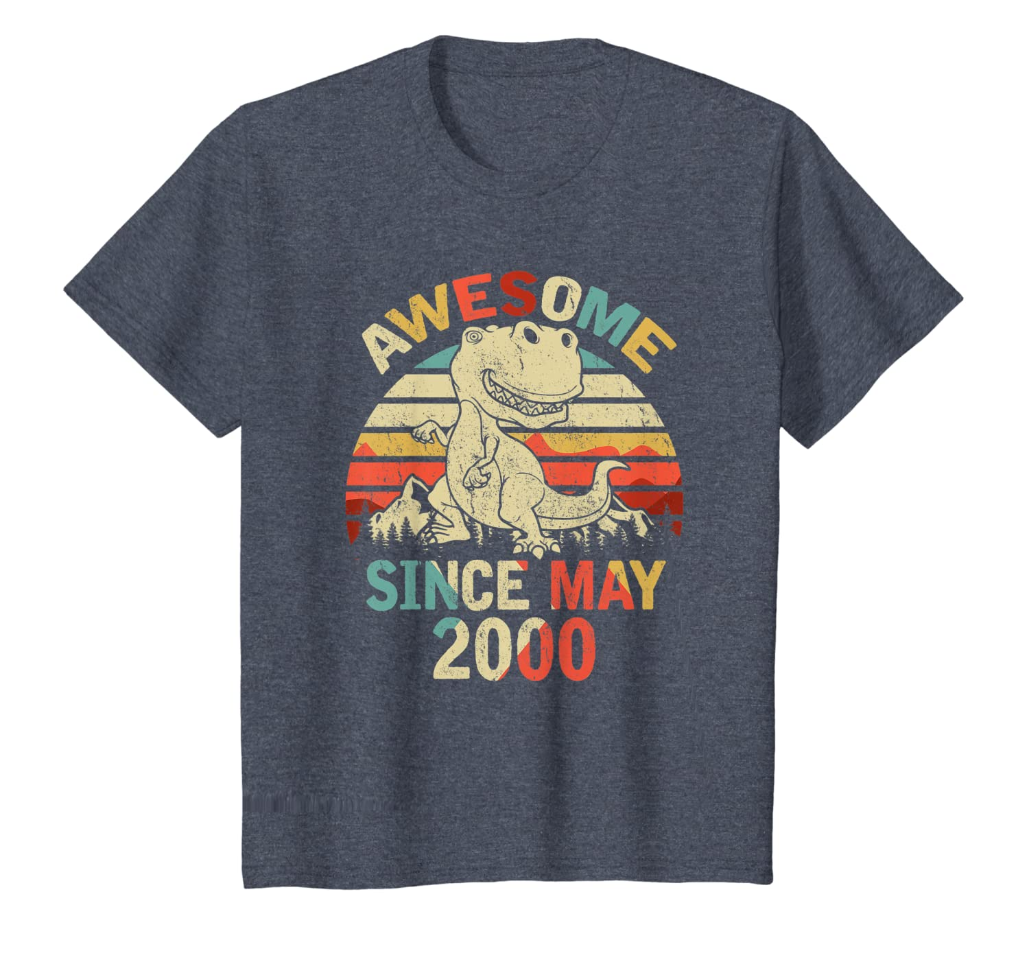 Awesome Since MAY 2000 20th Dinosaur Birthday for Boys Kid T-Shirt