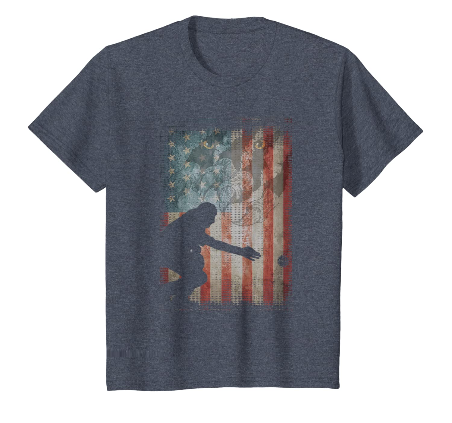 Vintage Flag American Bocce lovers gifts friends family T-Shirt
