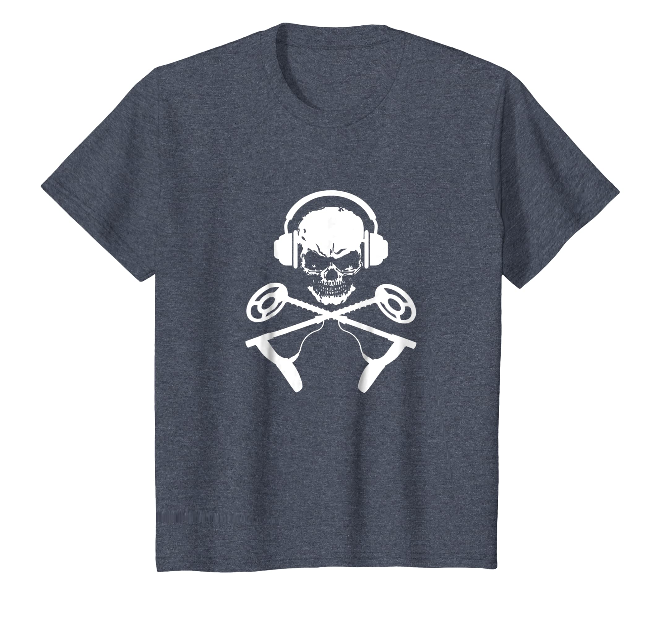 Amazon.com: Skull And Metal Detector Cross Bones Metal Detecting T-Shirt: Clothing