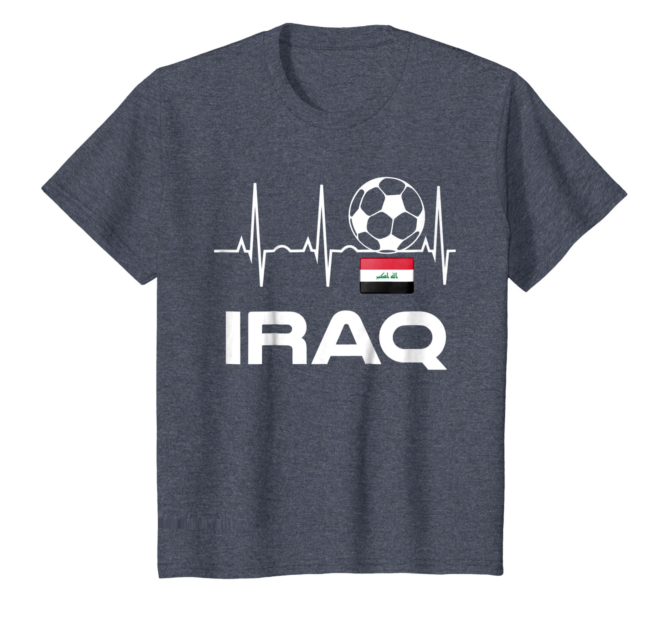 Amazon.com  Iraq Soccer Jersey Shirt - Iraqi Flag Soccer Gift Tee  Clothing 9b314e69c