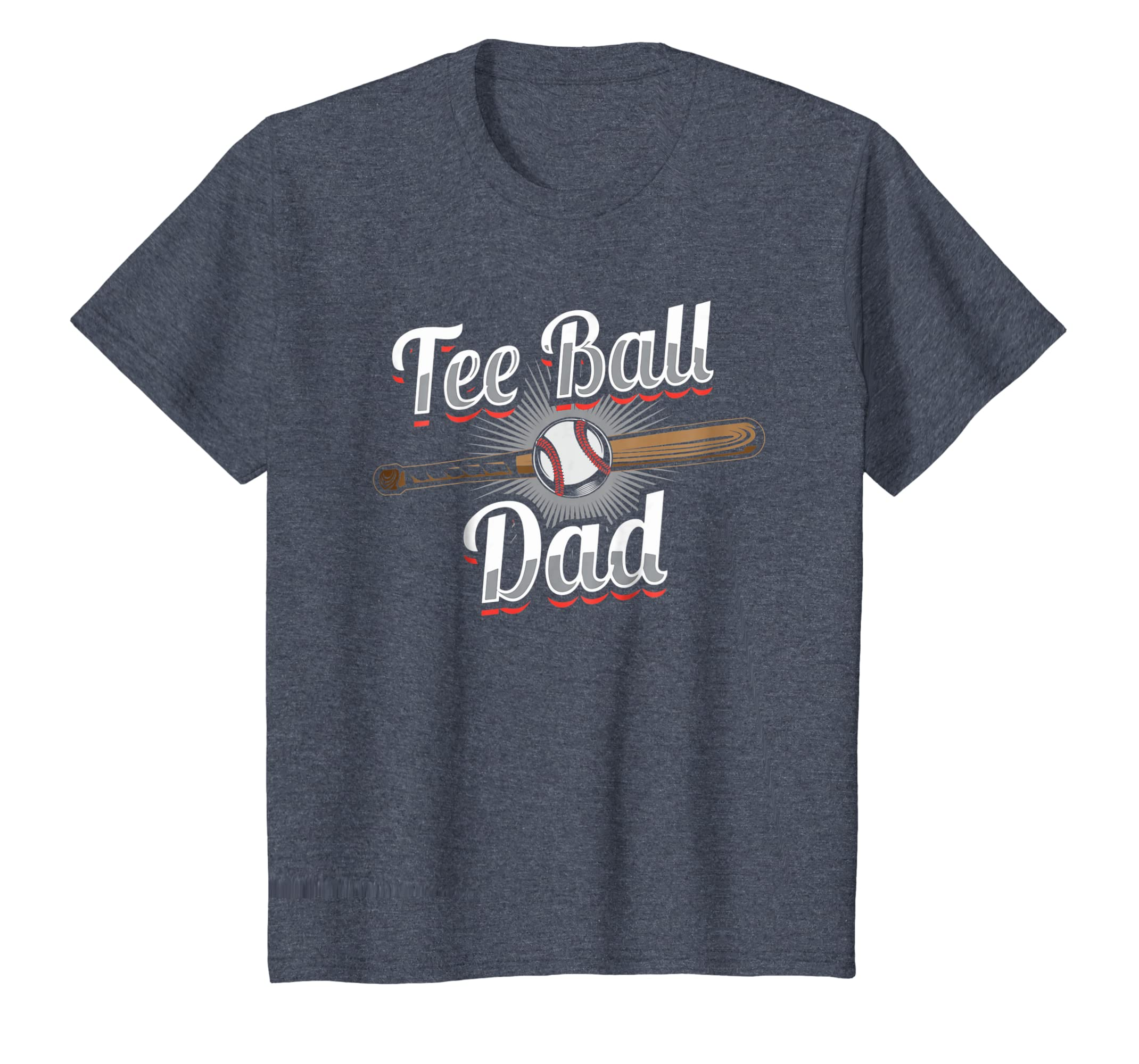 b1c09af67 Amazon.com: T-Ball Dad T-Shirt | Tee Ball Fathers Day Baseball Gift:  Clothing