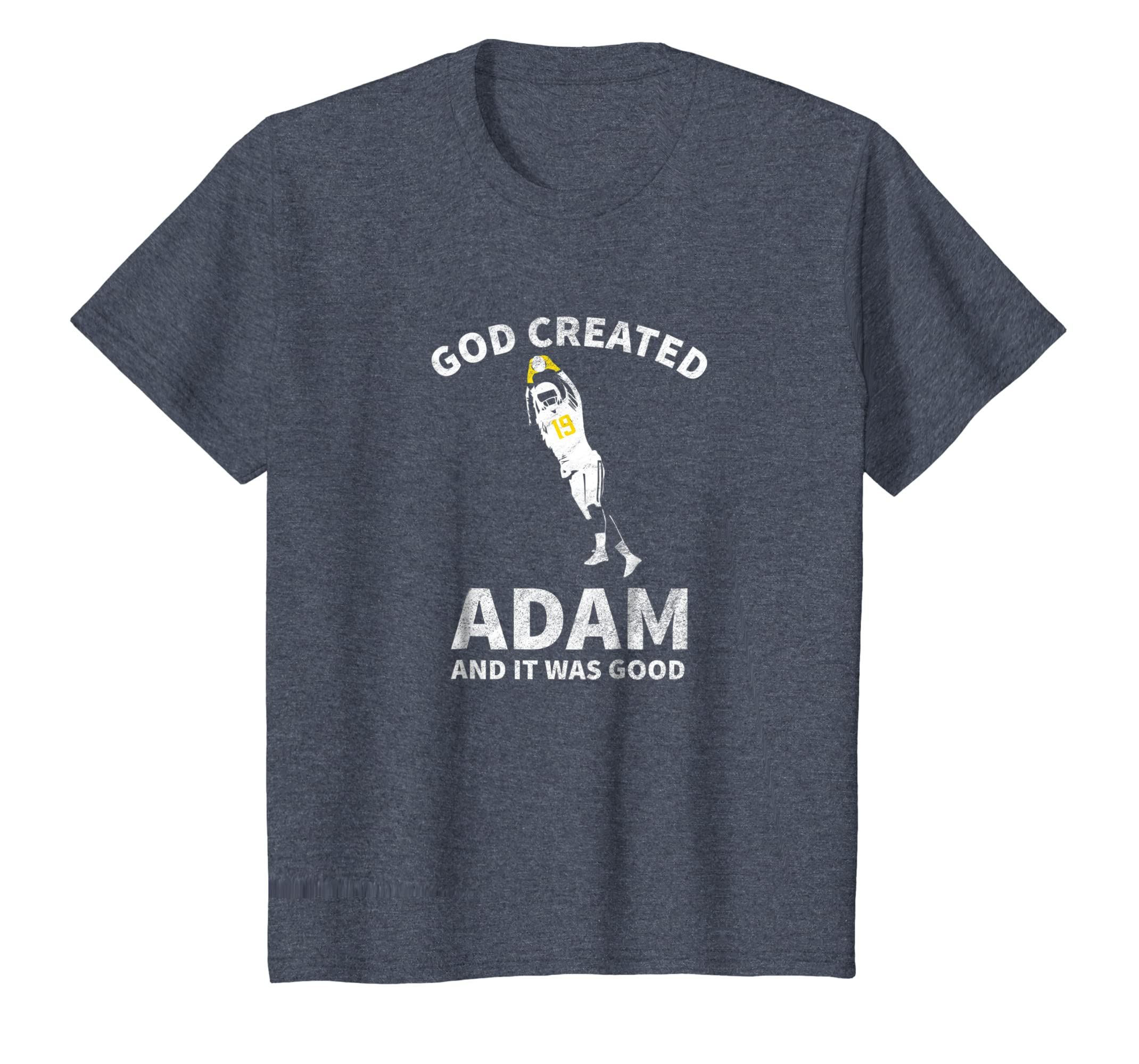 f5bf4bc7 Amazon.com: Retro Distressed God and Adam Football Gift Tee: Clothing